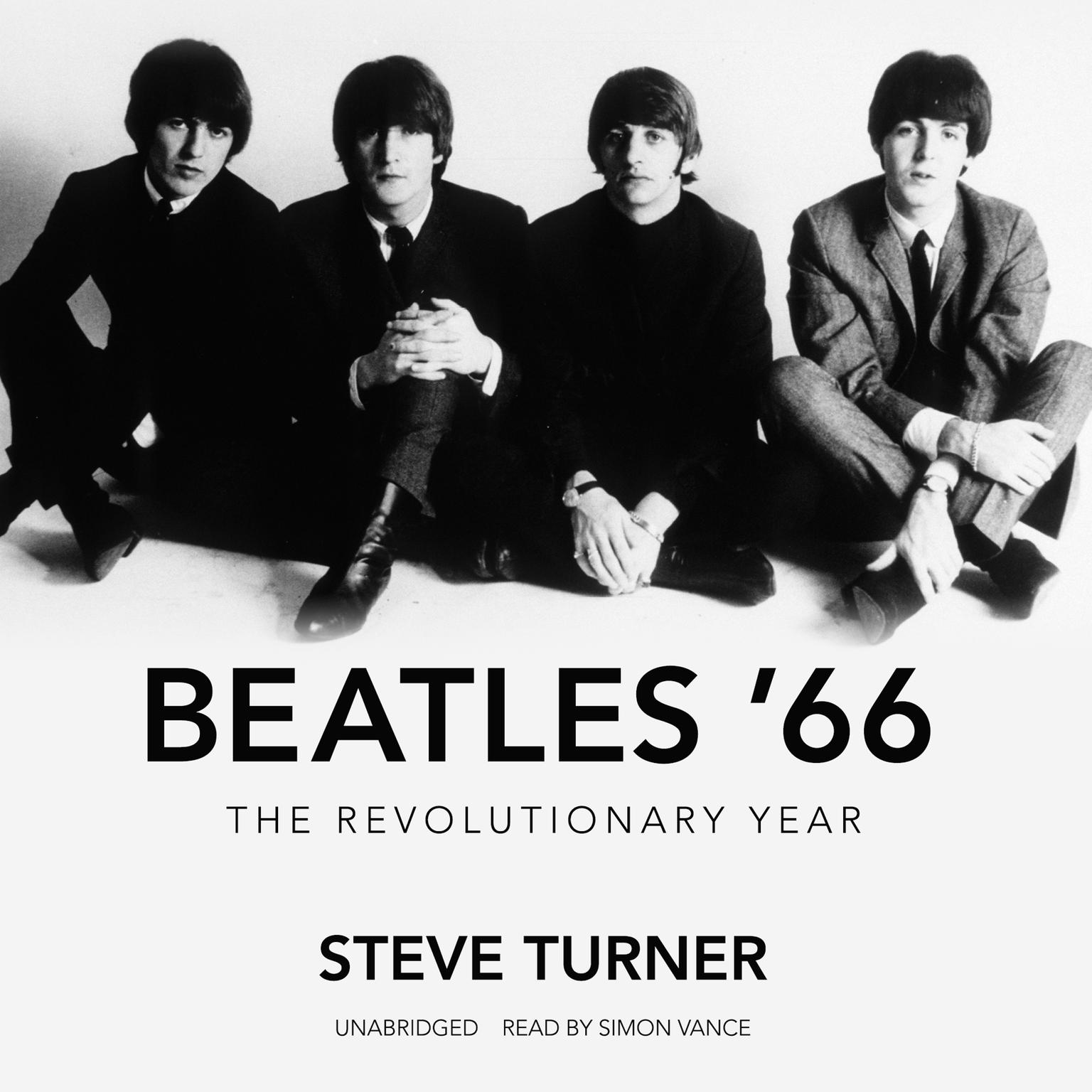 Printable Beatles '66: The Revolutionary Year Audiobook Cover Art