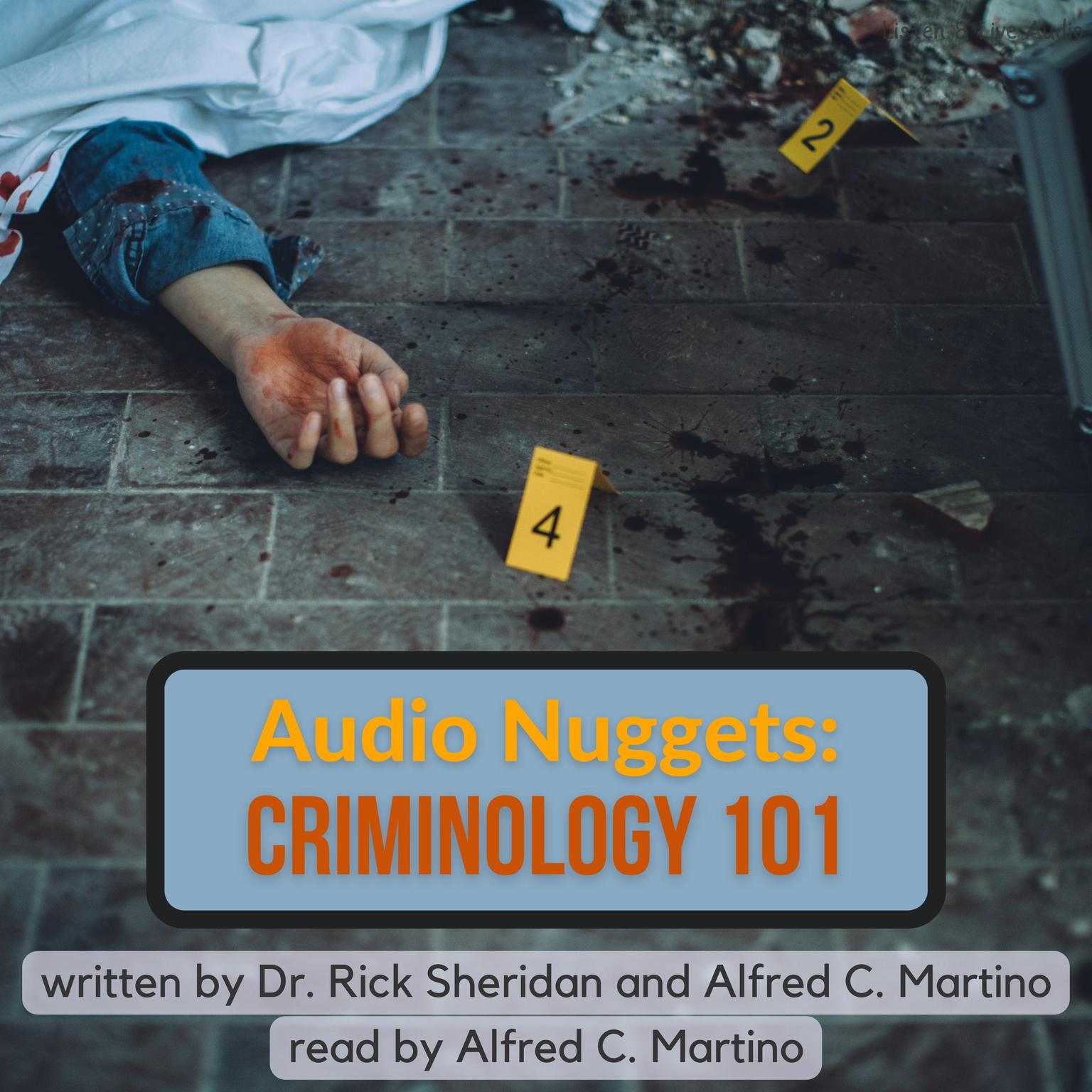 Printable Audio Nuggets: Criminology 101 Audiobook Cover Art