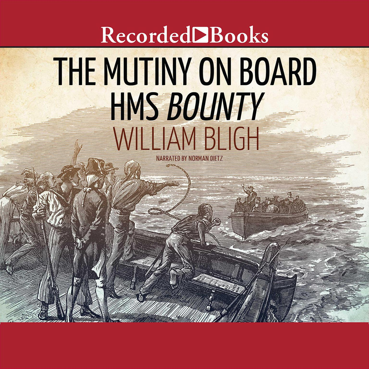 Printable The Mutiny on Board H.M.S. Bounty: A Voyage to the South Sea and the Terrible Mutiny on Board Audiobook Cover Art