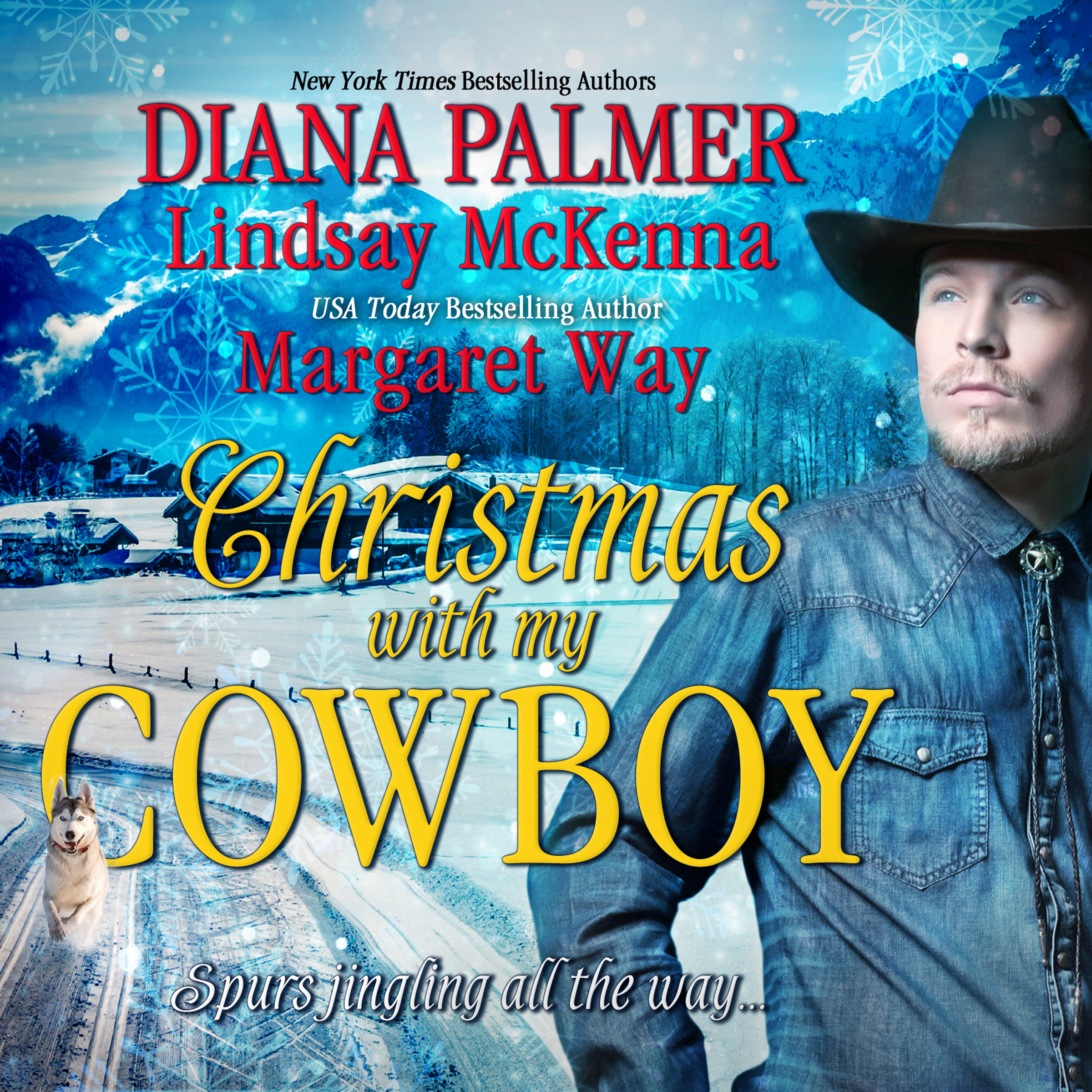 Printable Christmas with My Cowboy Audiobook Cover Art