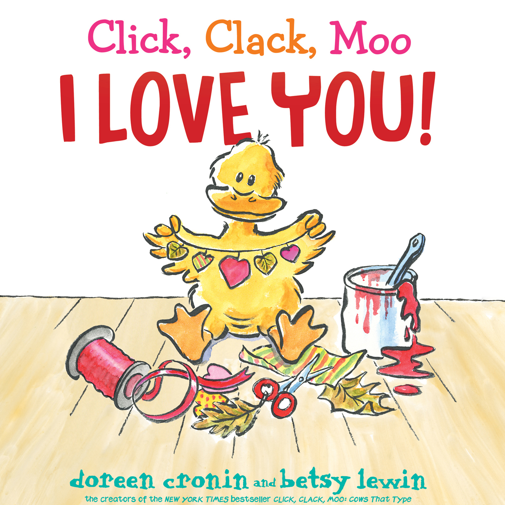 Printable Click, Clack, Moo I Love You! Audiobook Cover Art