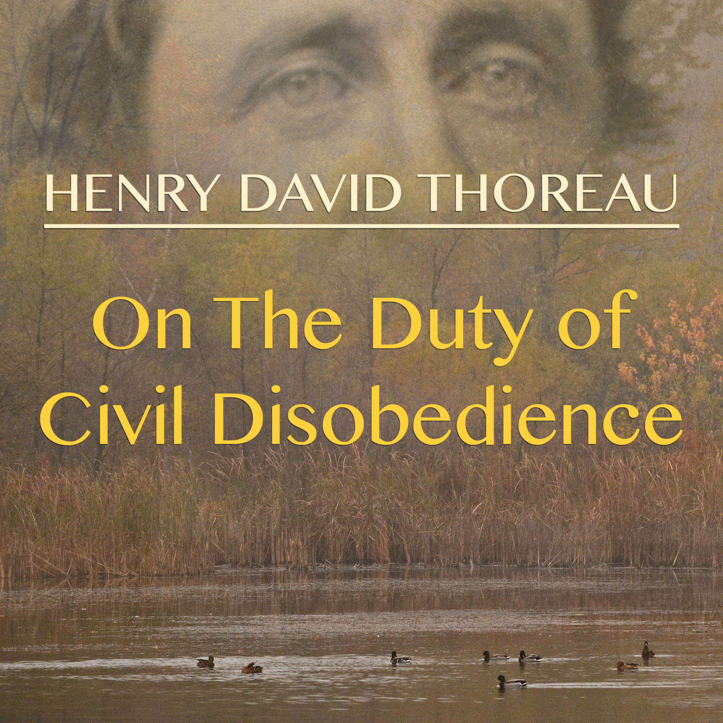 Printable On the Duty of Civil Disobedience Audiobook Cover Art