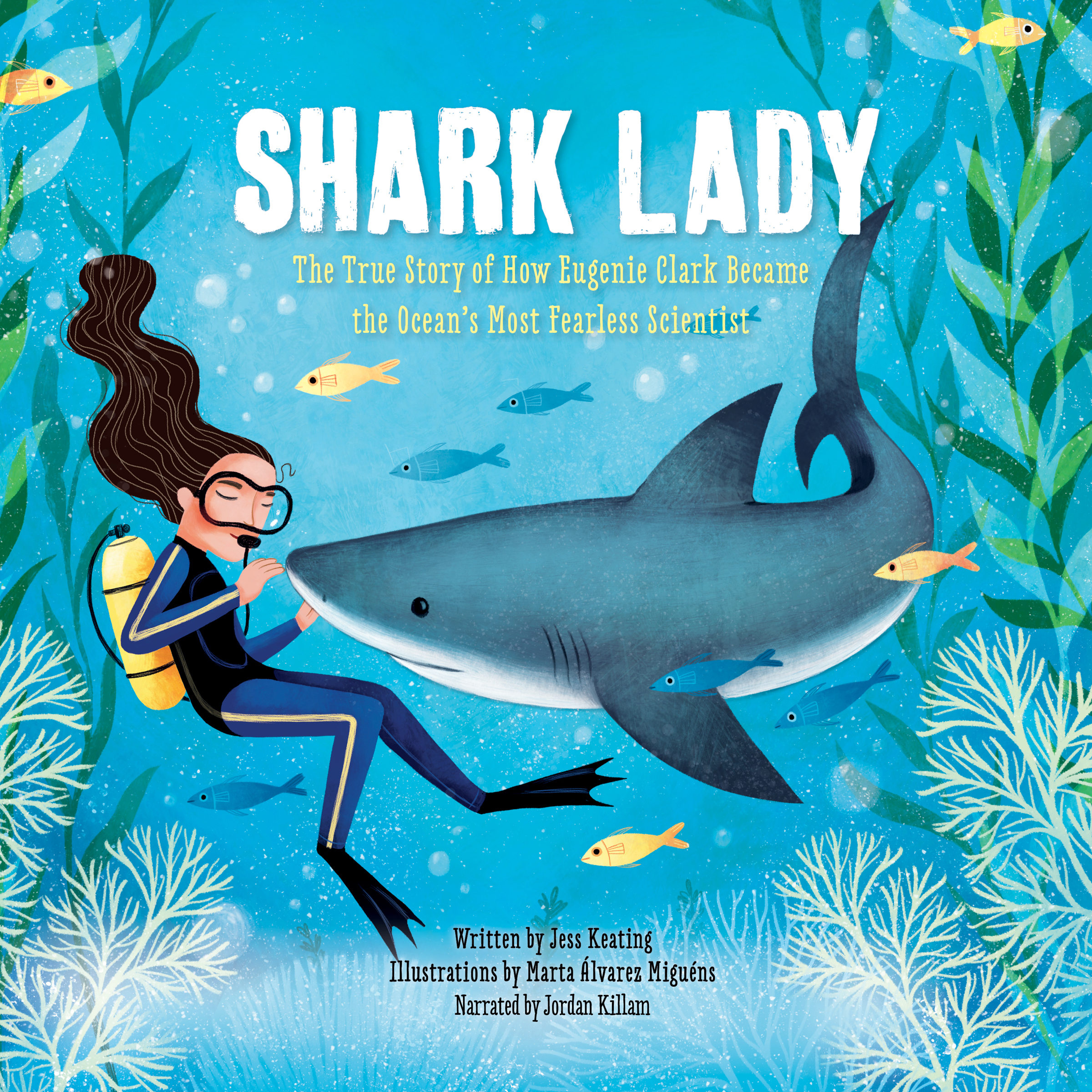 Printable Shark Lady: The True Story of How Eugenie Clark Became the Ocean's Most Fearless Scientist Audiobook Cover Art