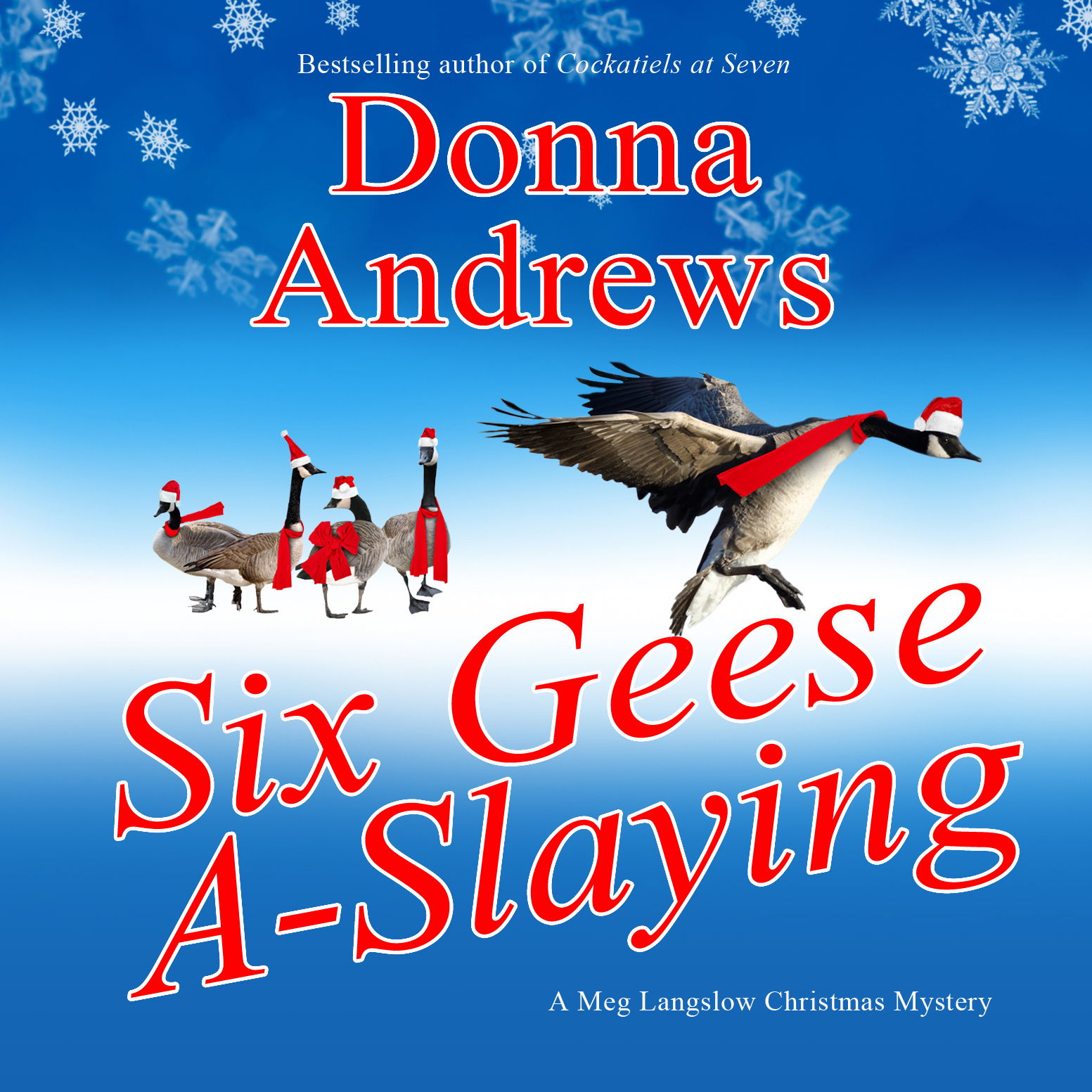Printable Six Geese A-Slaying Audiobook Cover Art