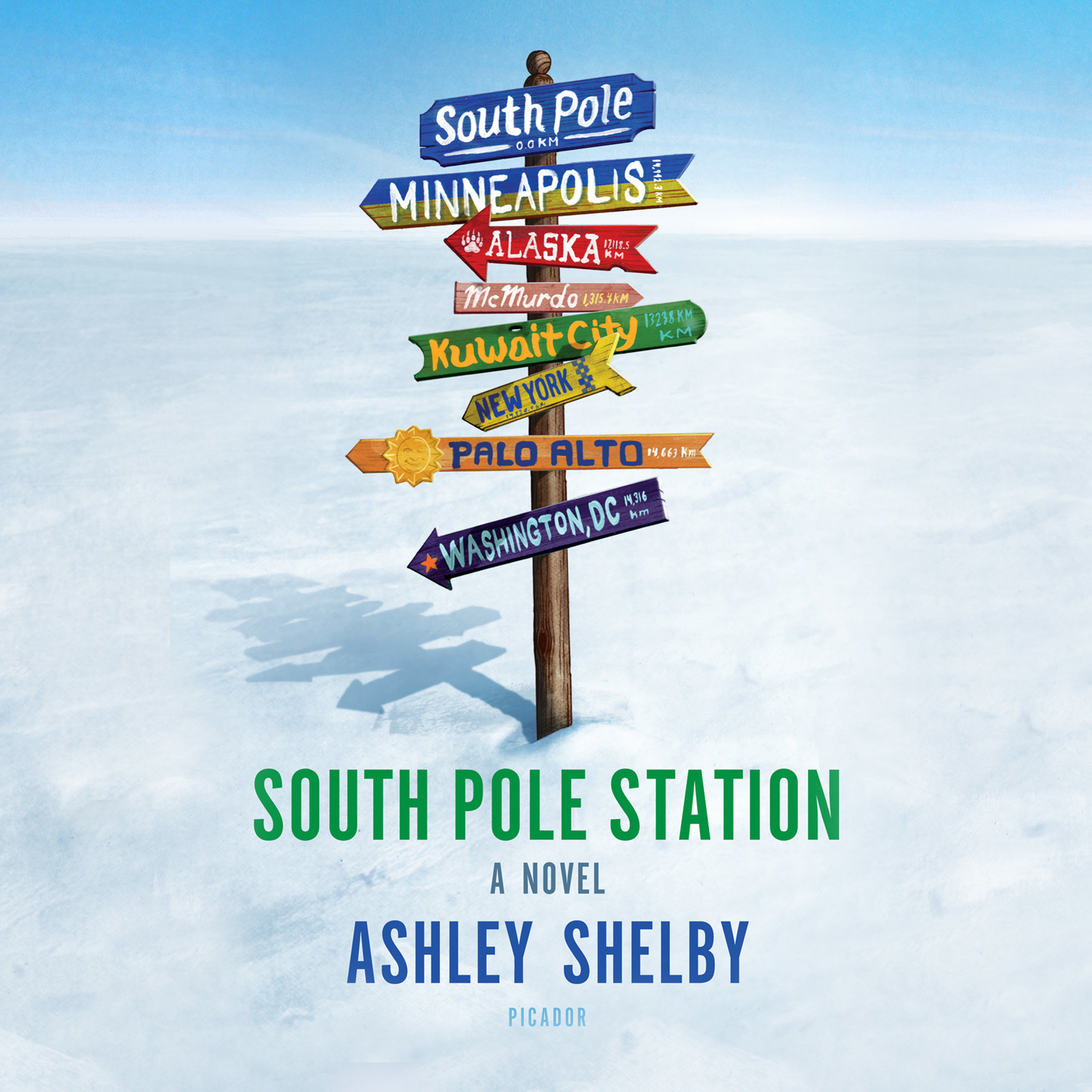 Printable South Pole Station Audiobook Cover Art