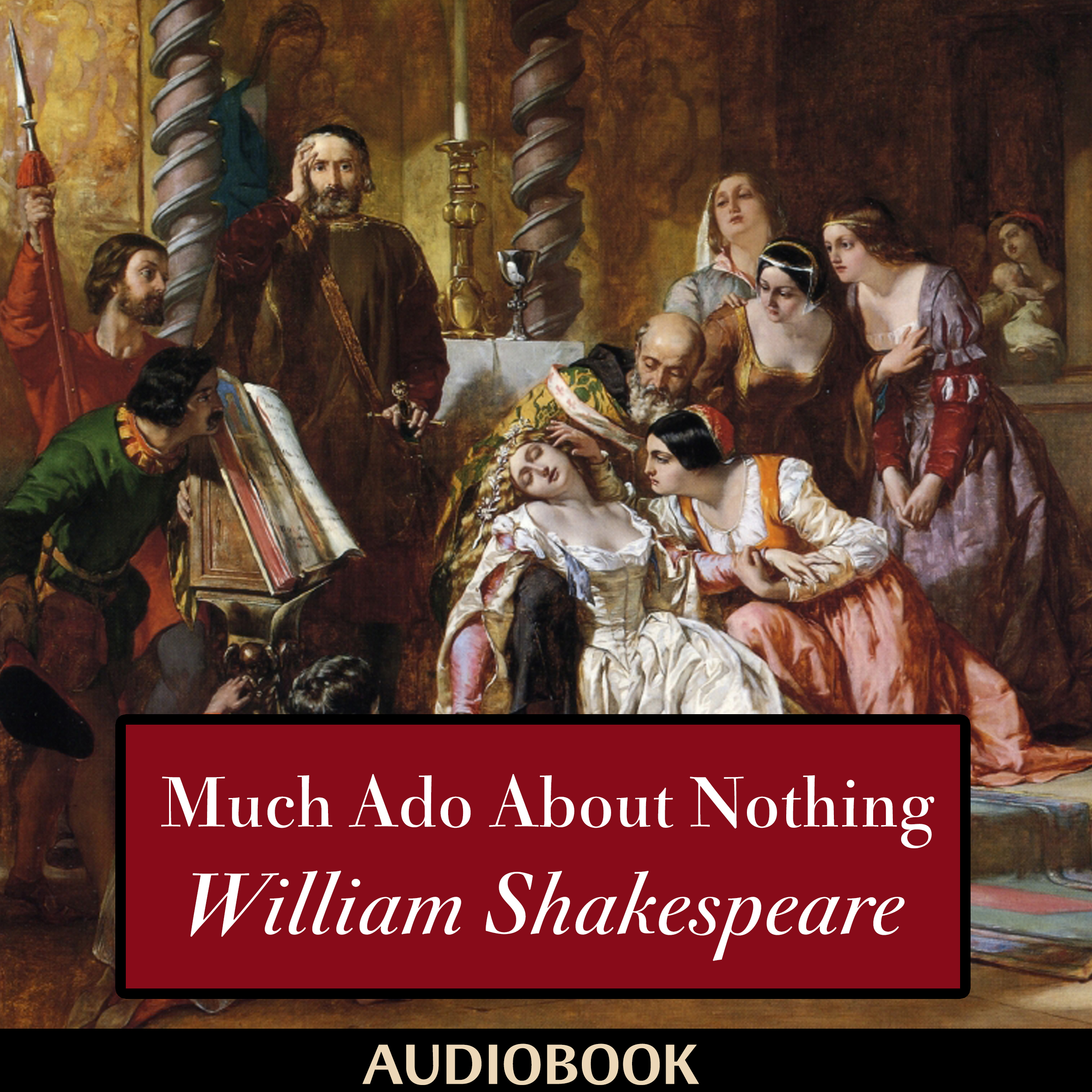 Printable Much Ado About Nothing Audiobook Cover Art