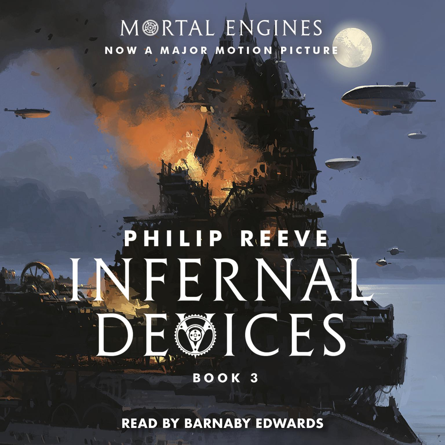 Printable Infernal Devices: Book 3 of Mortal Engines Audiobook Cover Art