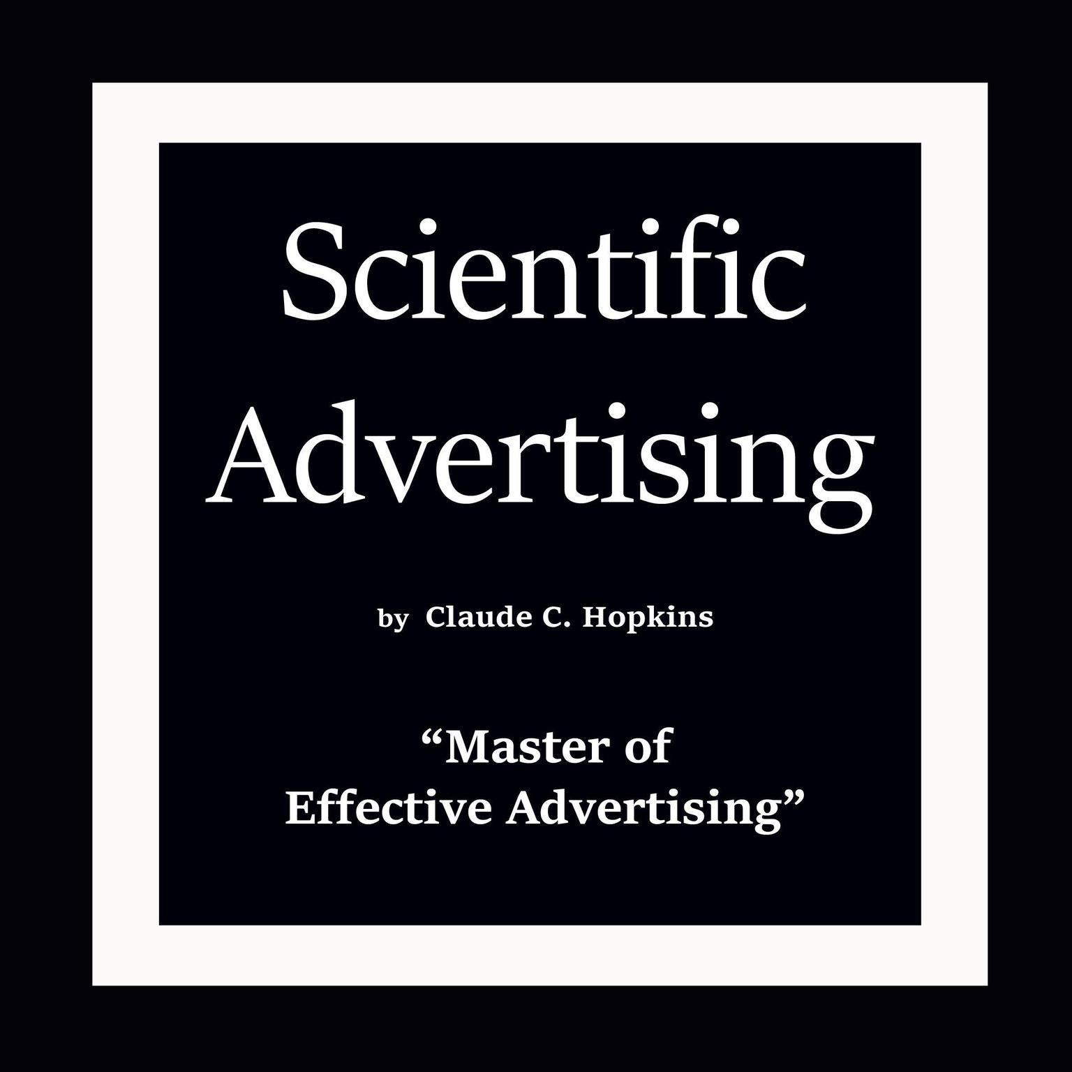 Printable Scientific Advertising Audiobook Cover Art