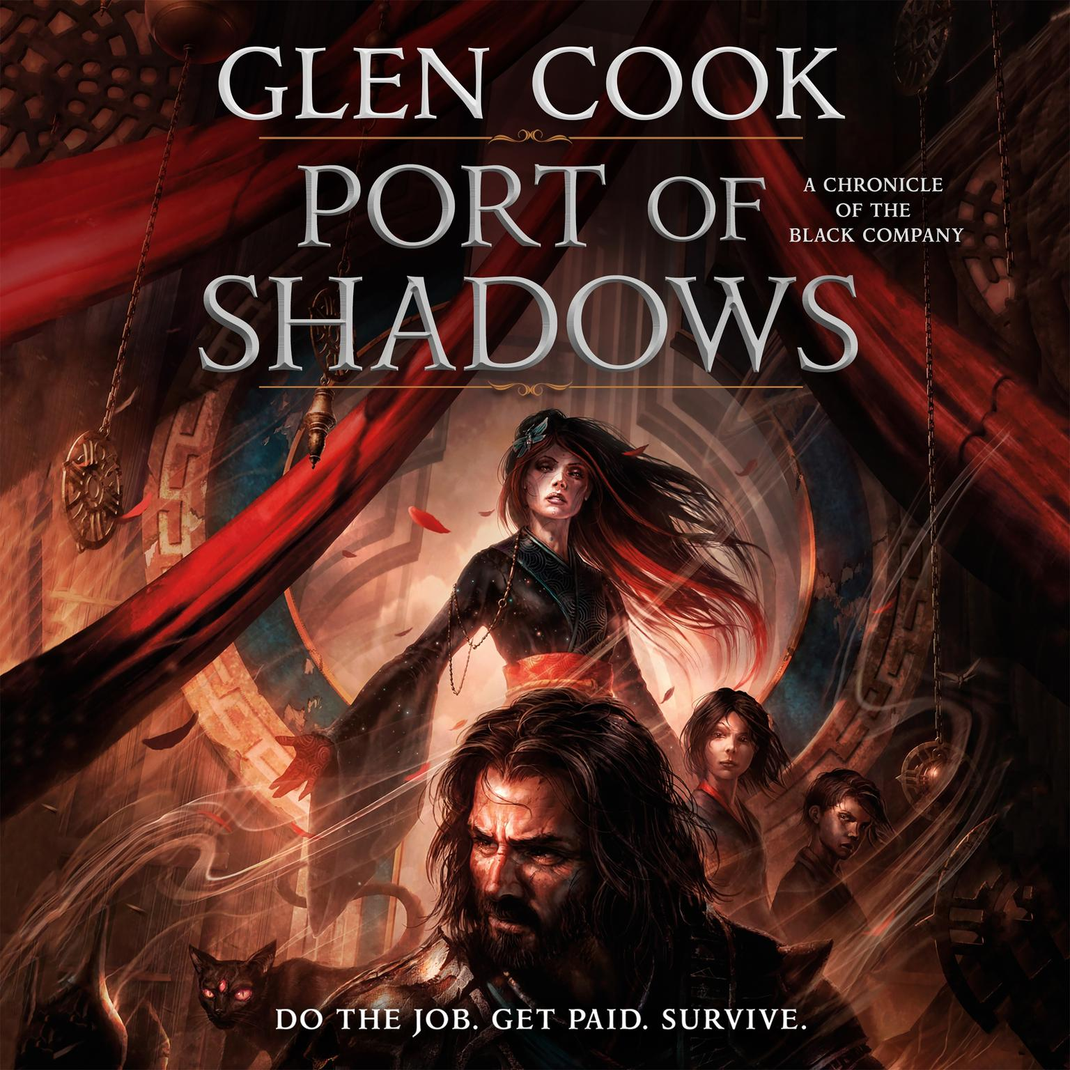 Printable Port of Shadows: A Chronicle of the Black Company Audiobook Cover Art