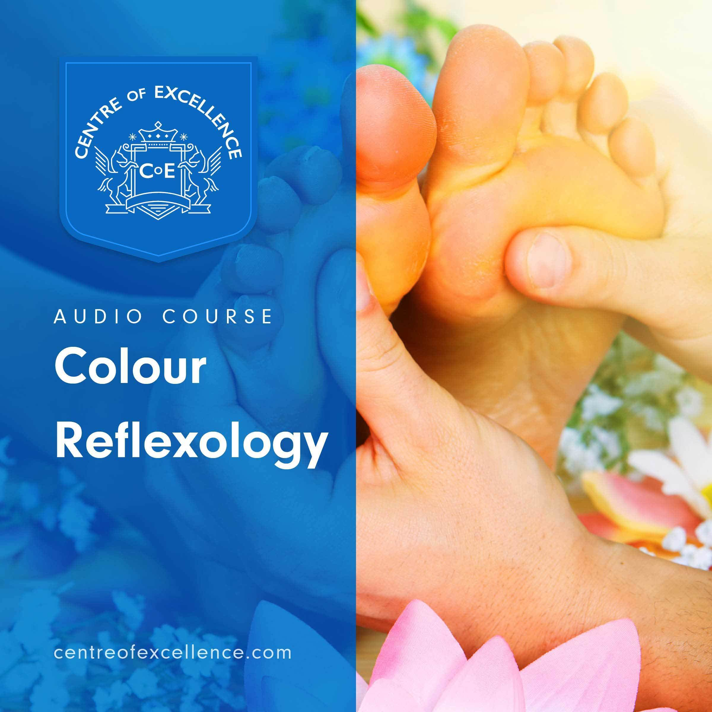 Printable Colour Reflexology Audiobook Cover Art