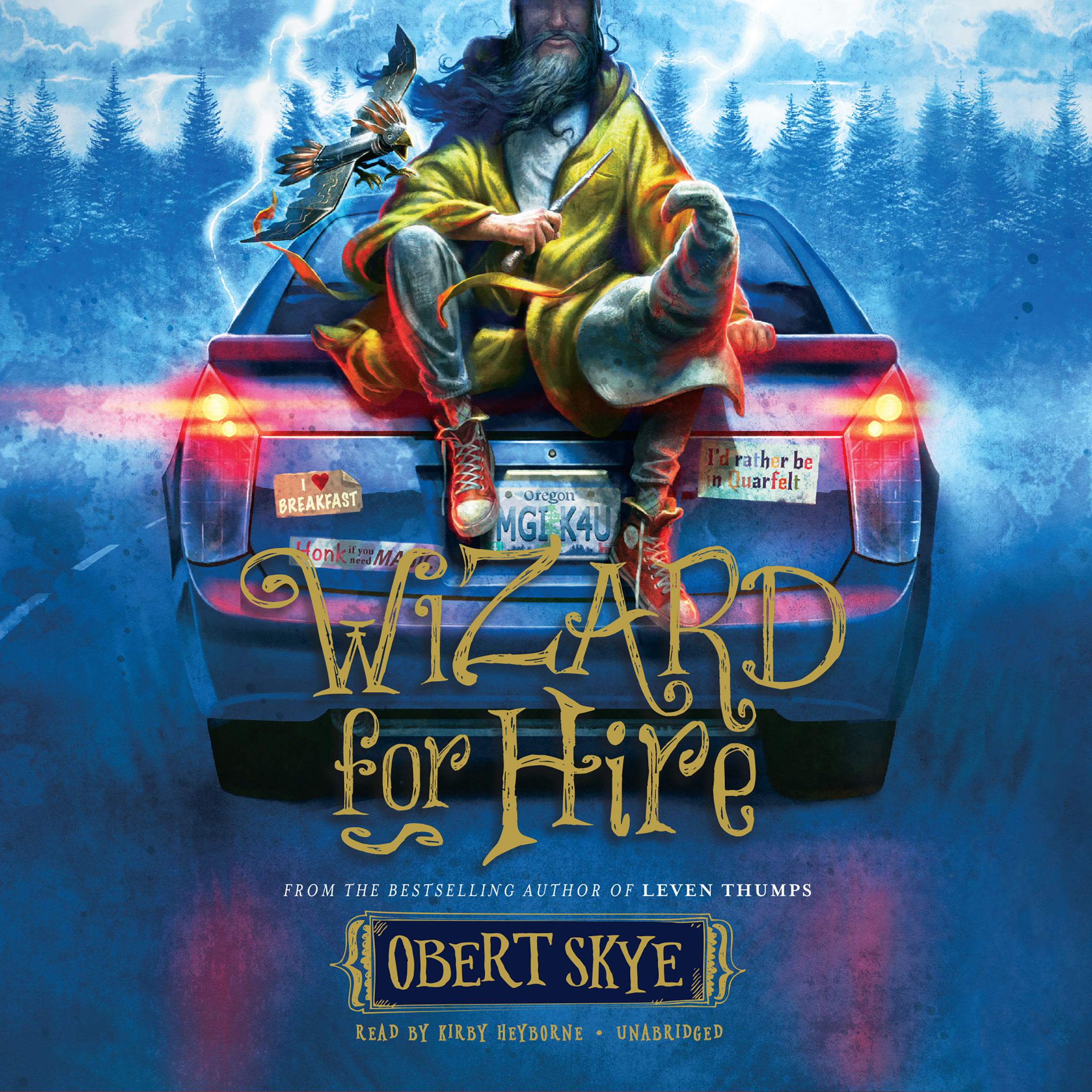 Printable Wizard for Hire Audiobook Cover Art