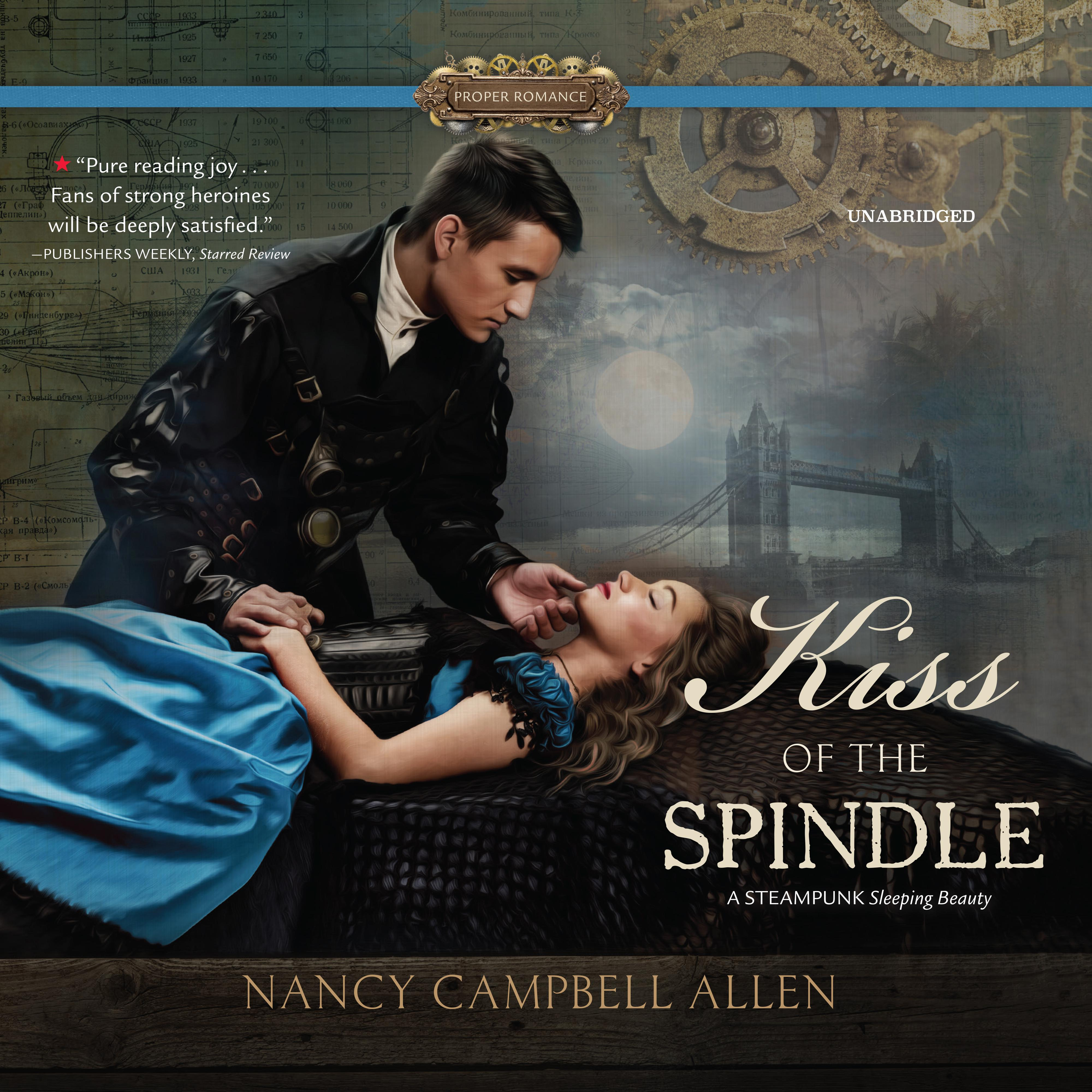Printable Kiss of the Spindle Audiobook Cover Art