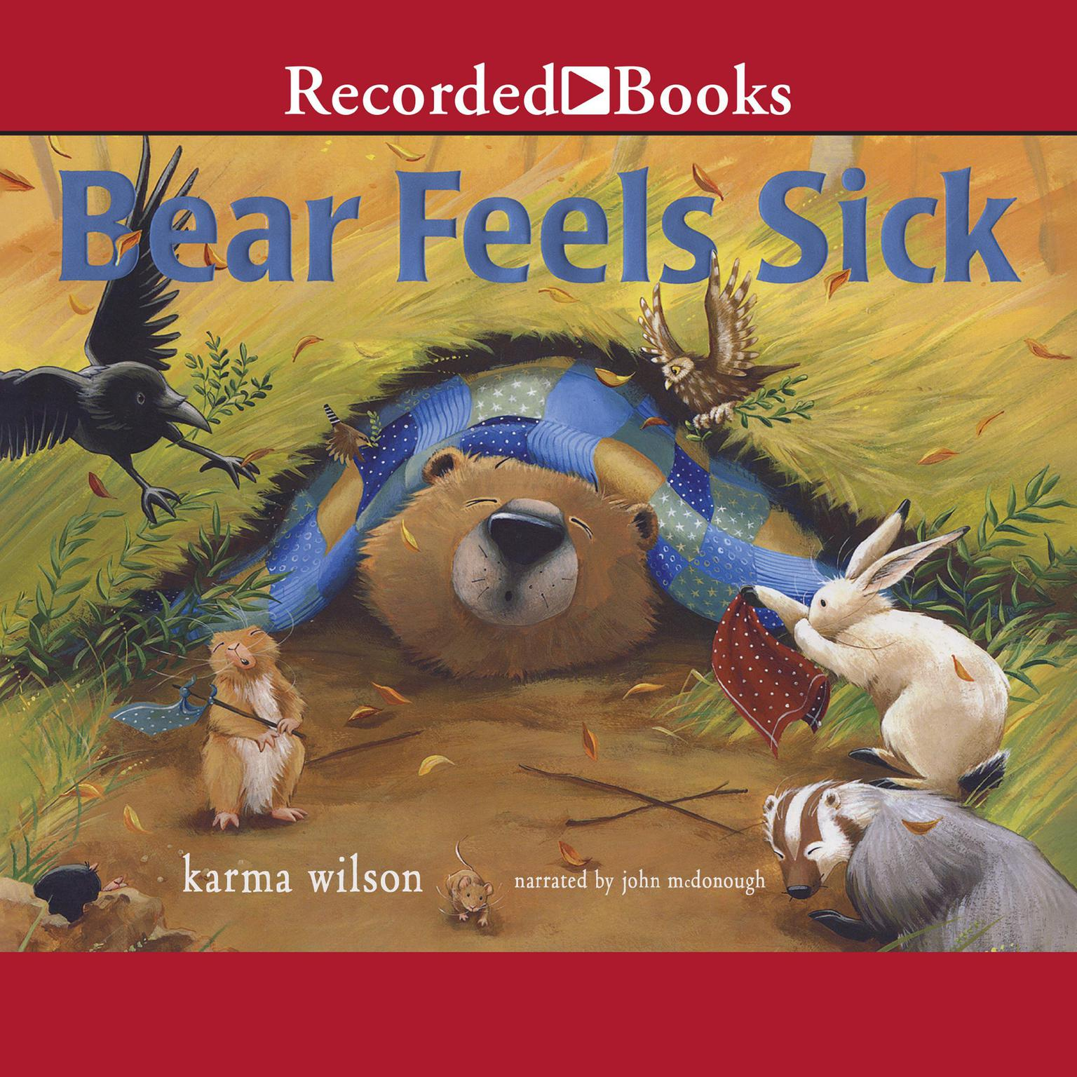 Printable Bear Feels Sick Audiobook Cover Art