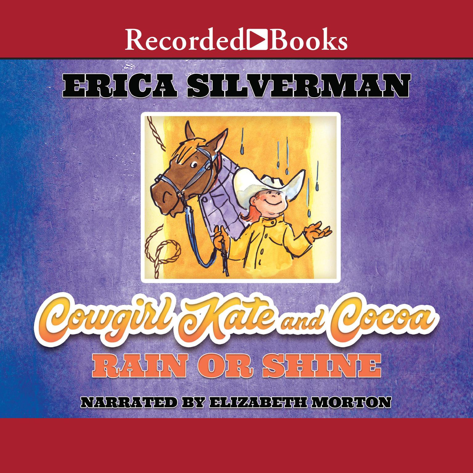 Printable Cowgirl Kate and Cocoa: Rain or Shine Audiobook Cover Art