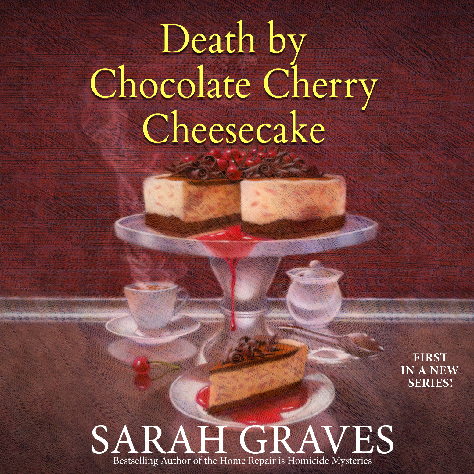 Printable Death by Chocolate Cherry Cheesecake Audiobook Cover Art