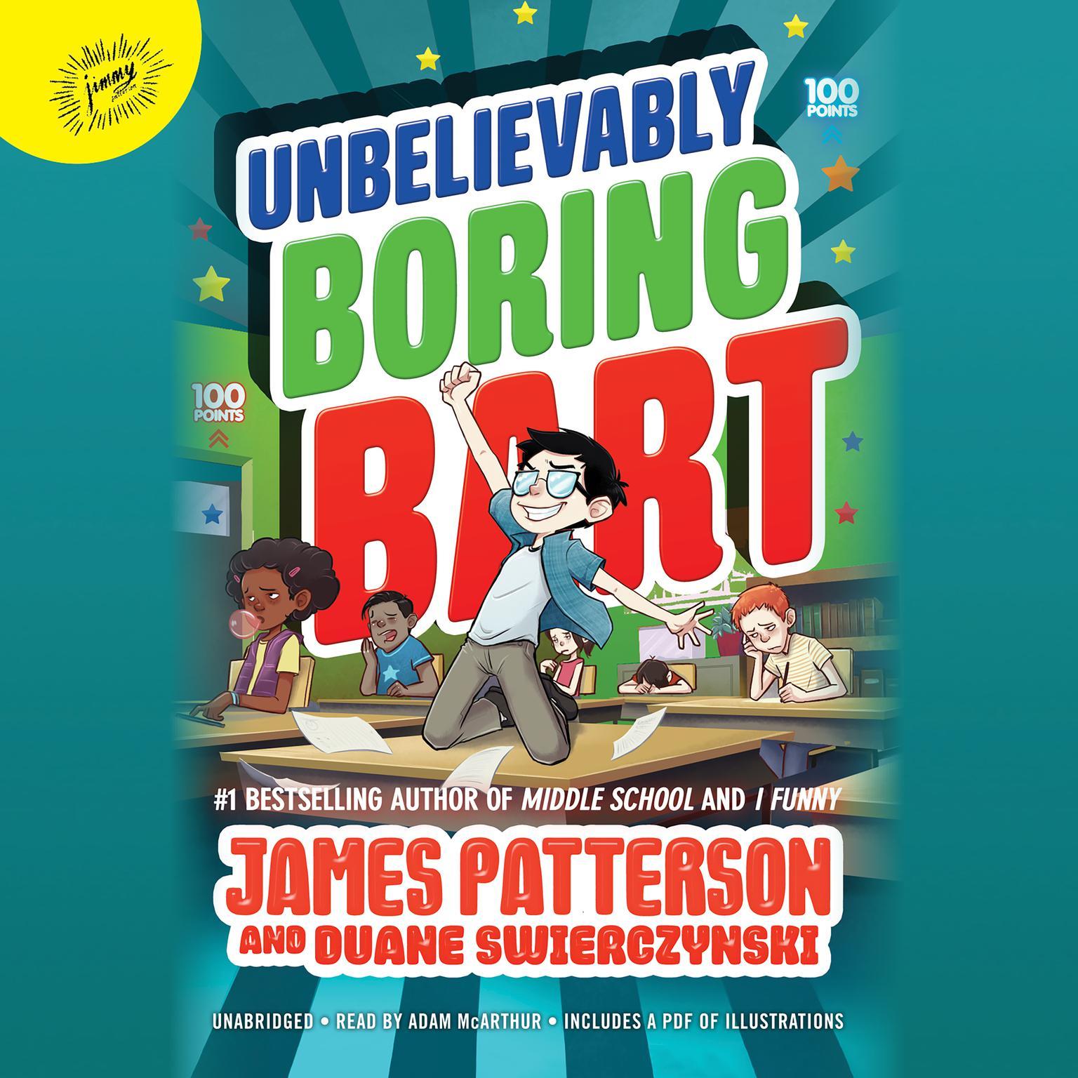 Printable Unbelievably Boring Bart Audiobook Cover Art