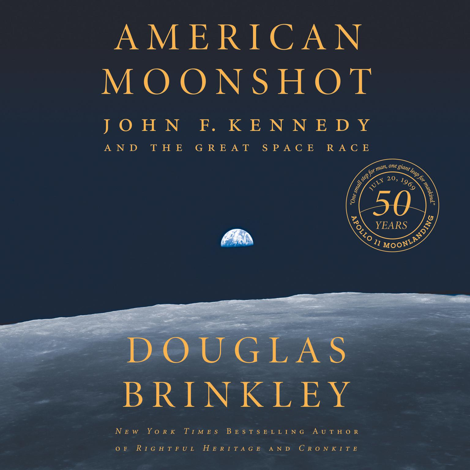 Printable American Moonshot: John F. Kennedy and the Great Space Race Audiobook Cover Art