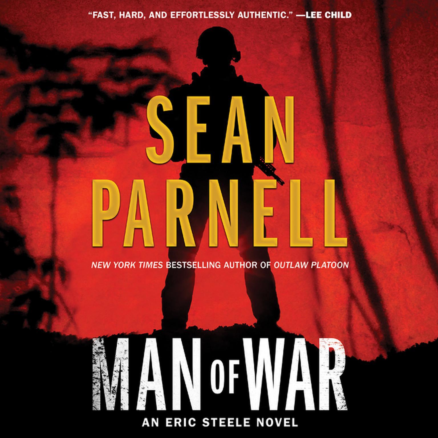 Printable Man of War: An Eric Steele Novel Audiobook Cover Art
