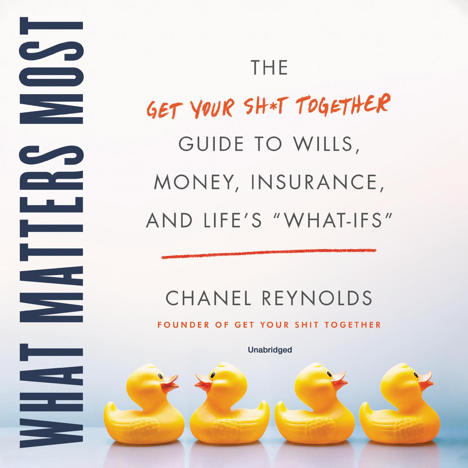 Printable What Matters Most: The Get Your Shit Together Guide to Wills, Money, Insurance, and Life's 'What-ifs' Audiobook Cover Art