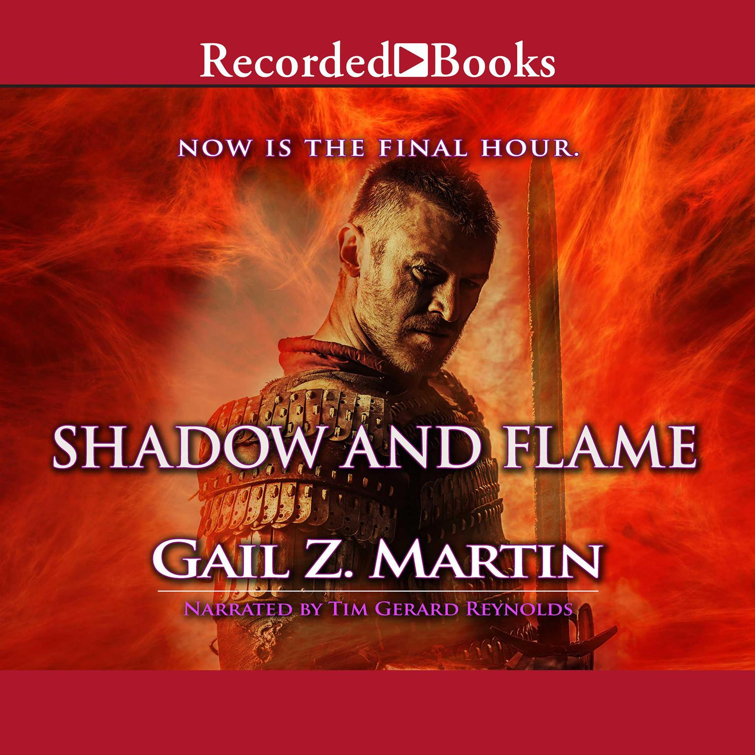 Printable Shadow and Flame Audiobook Cover Art