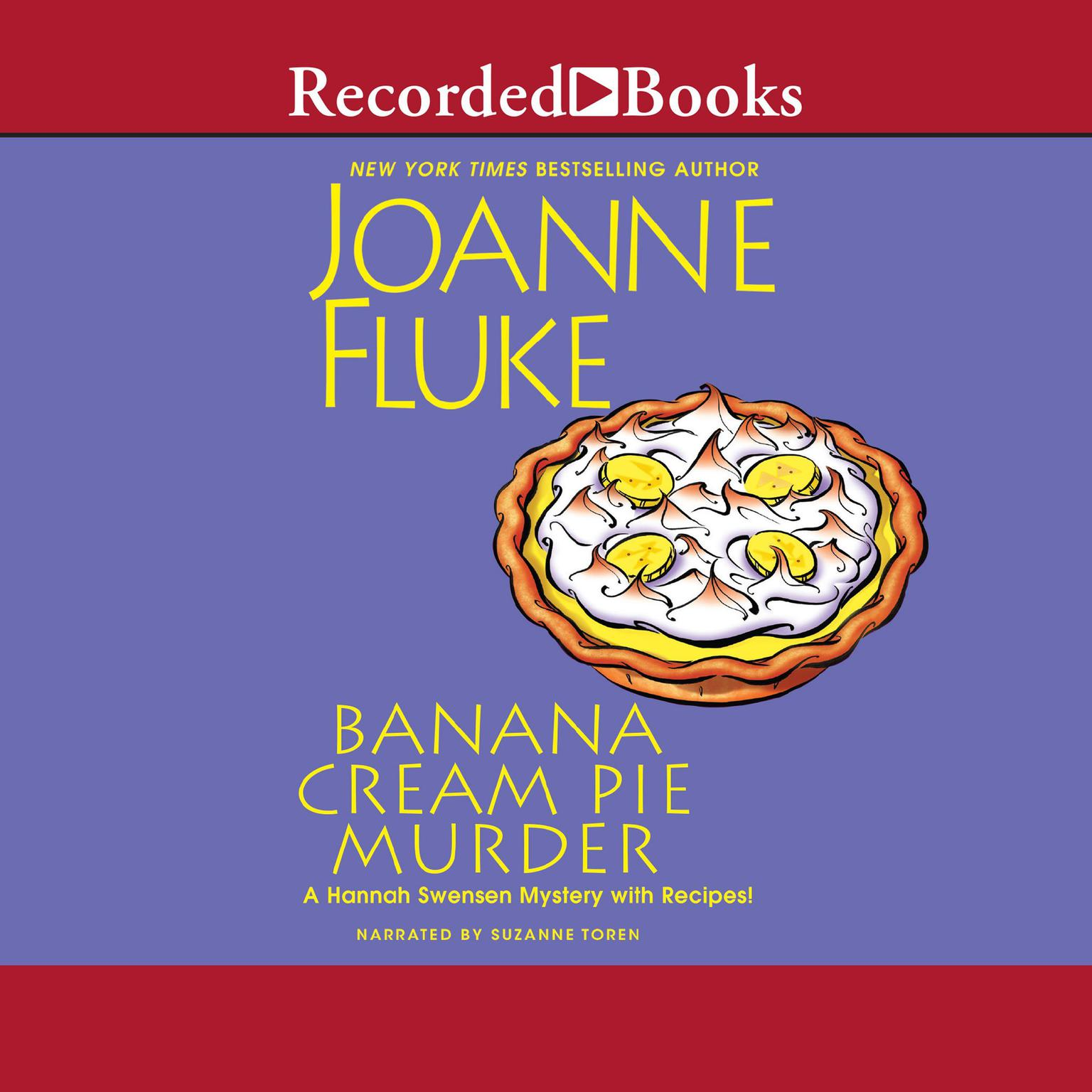 Printable Banana Cream Pie Murder Audiobook Cover Art