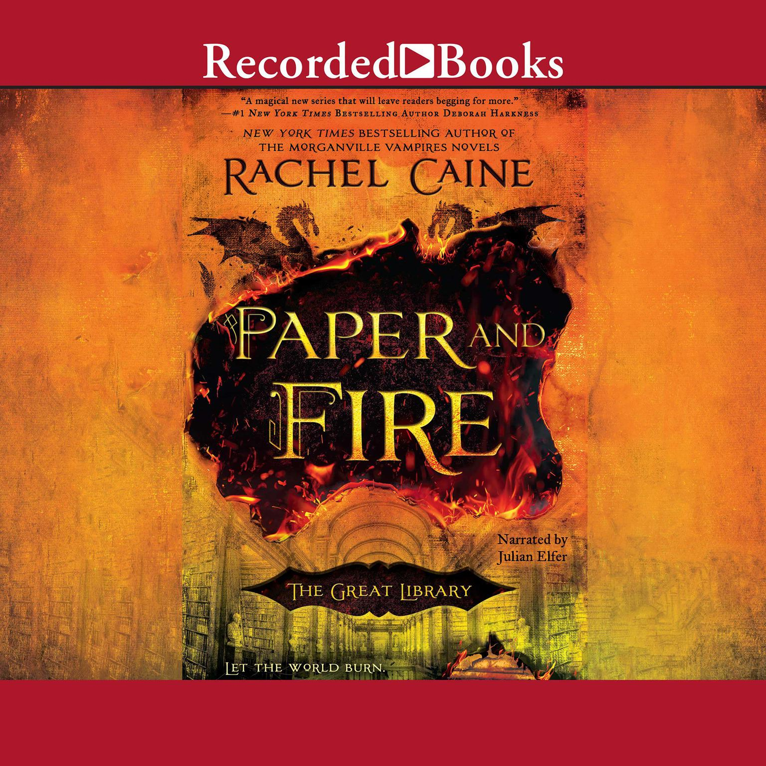Printable Paper and Fire Audiobook Cover Art