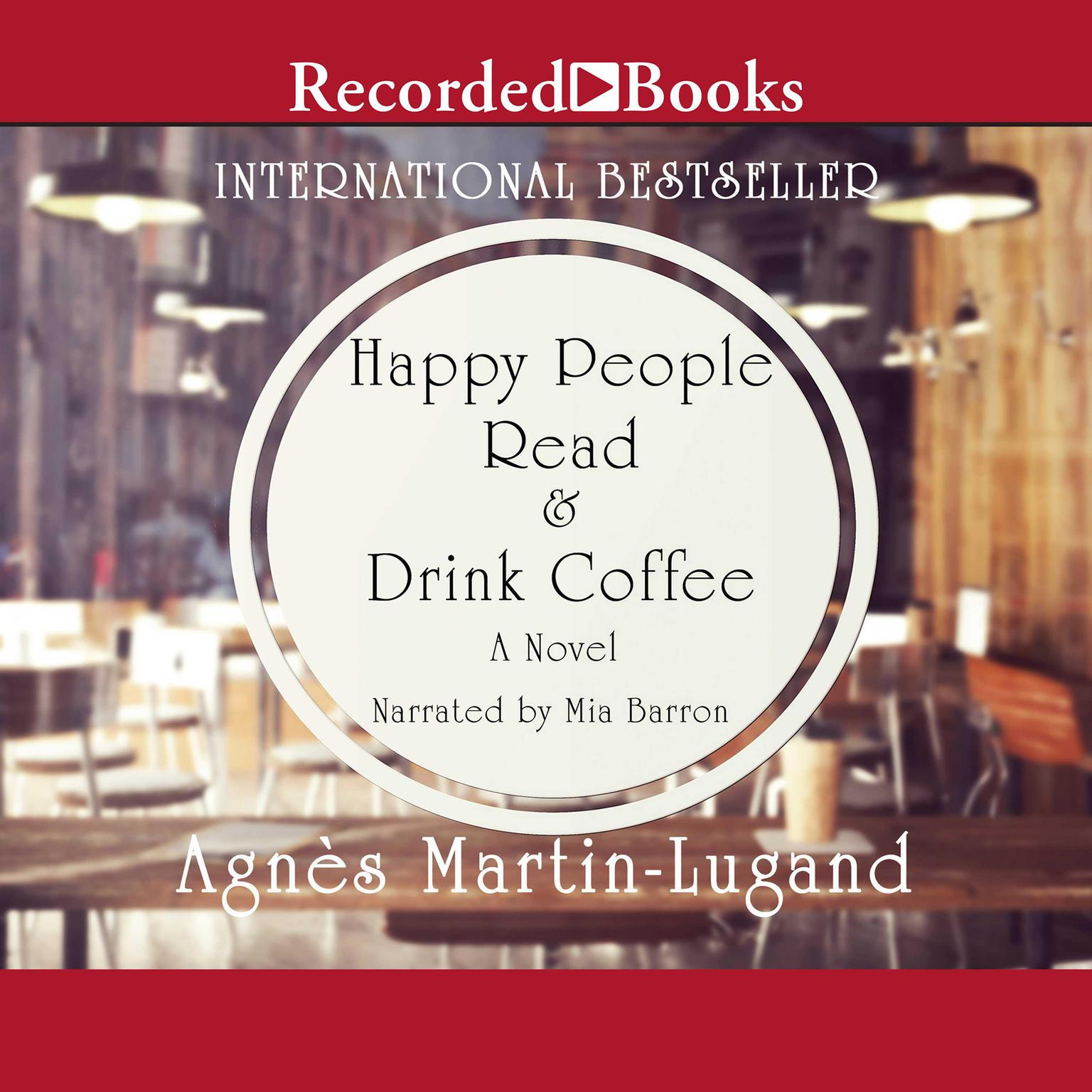 Printable Happy People Read and Drink Coffee Audiobook Cover Art