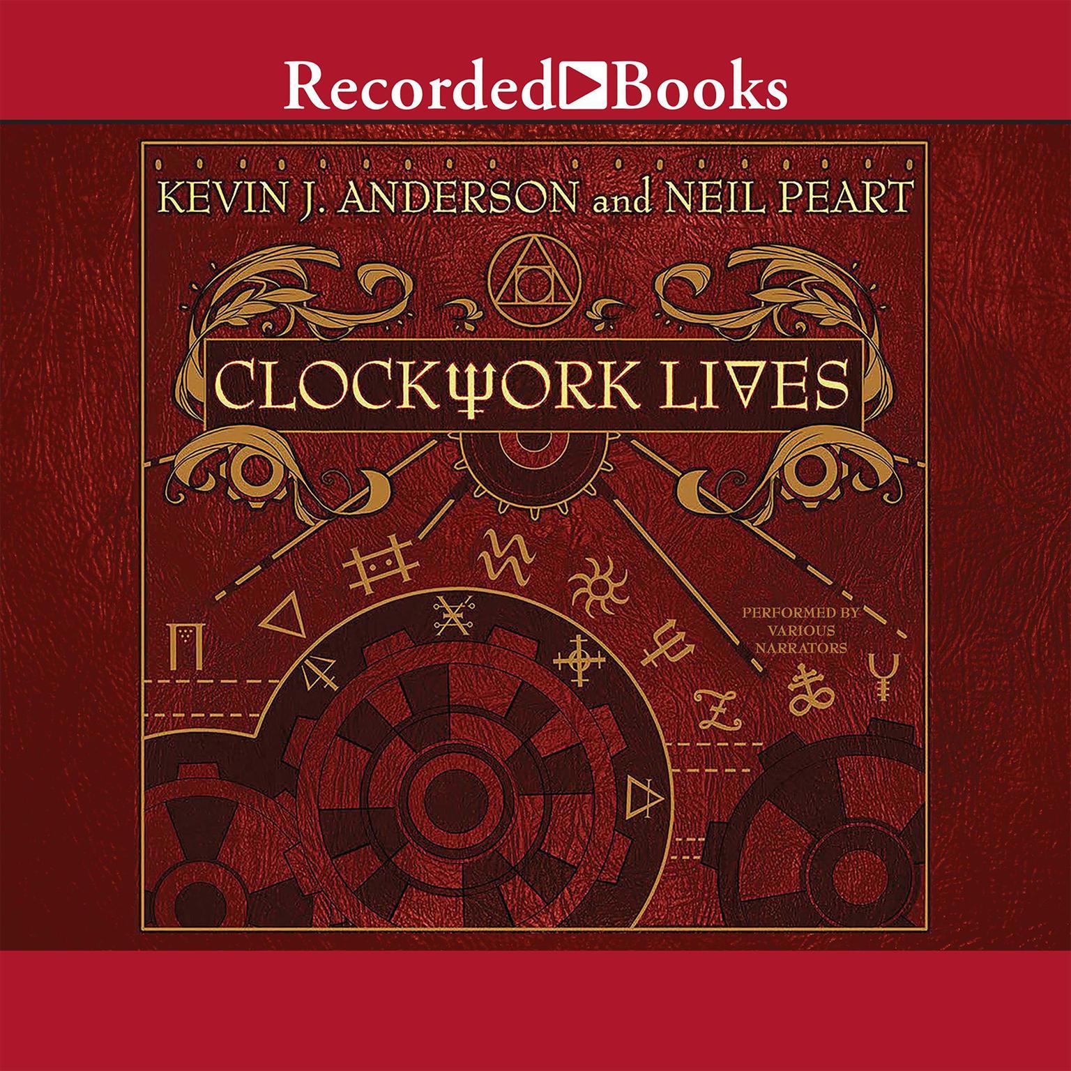 Printable Clockwork Lives Audiobook Cover Art
