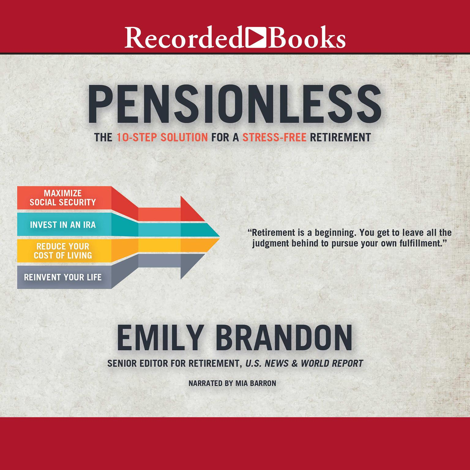 Printable Pensionless: The 10-Step Solution for a Stress-Free Retirement Audiobook Cover Art