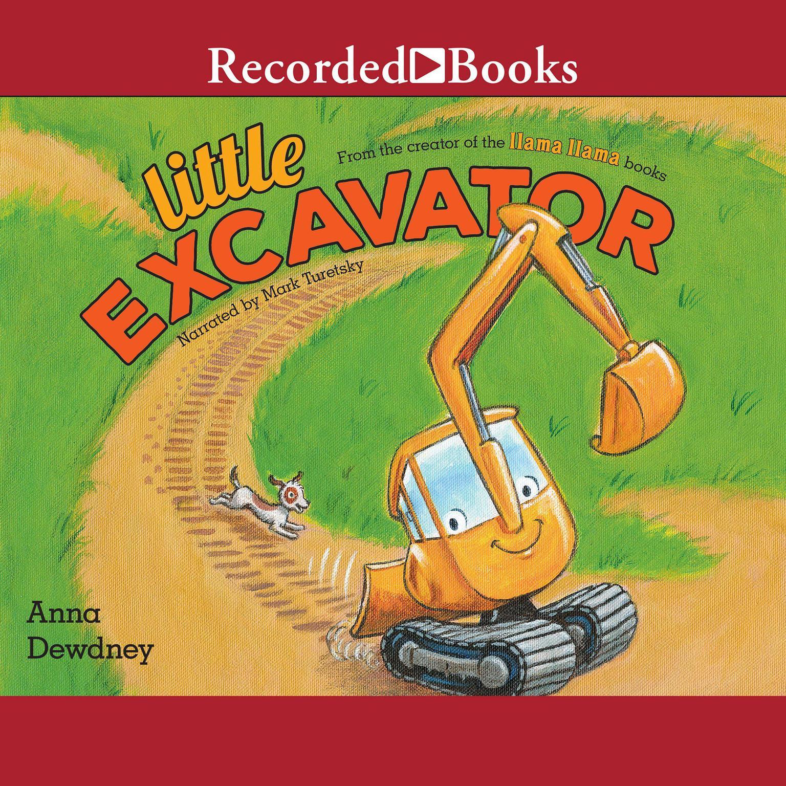 Printable Little Excavator Audiobook Cover Art