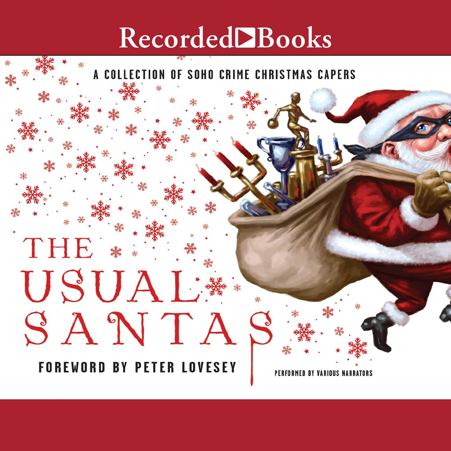 Printable The Usual Santas: A Collection of Soho Crime Christmas Capers Audiobook Cover Art