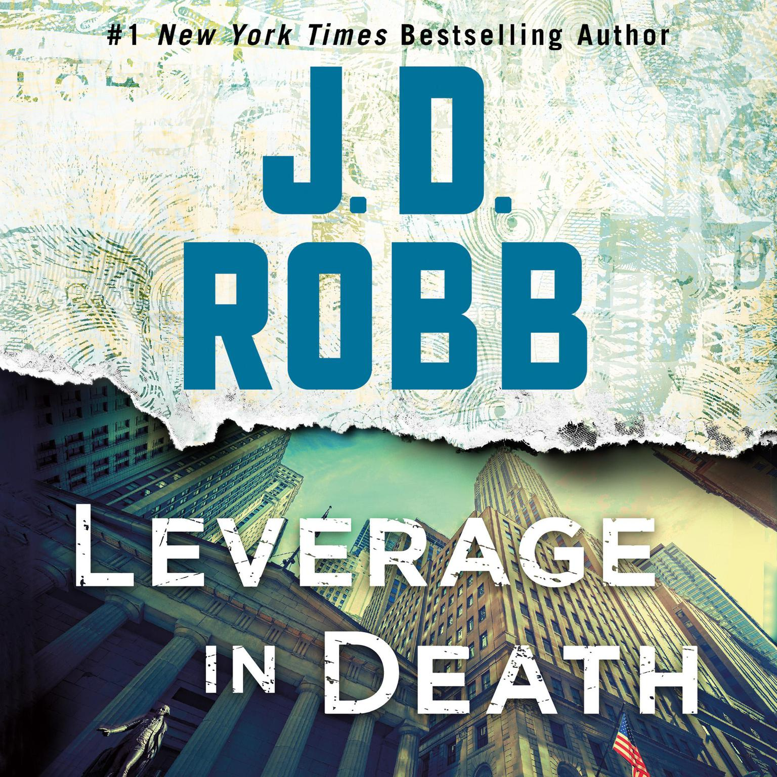 Printable Leverage in Death Audiobook Cover Art