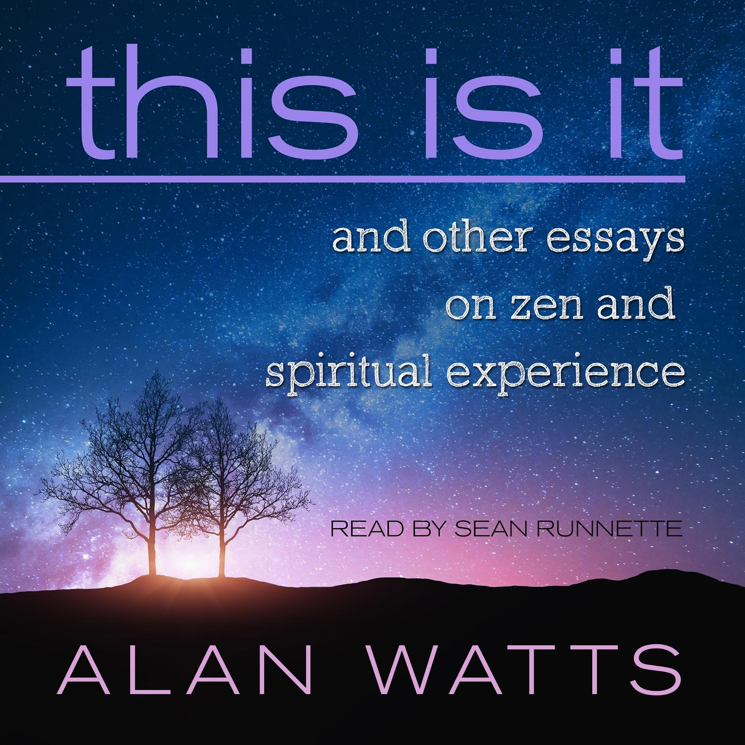 Printable This Is It: and Other Essays on Zen and Spiritual Experience Audiobook Cover Art