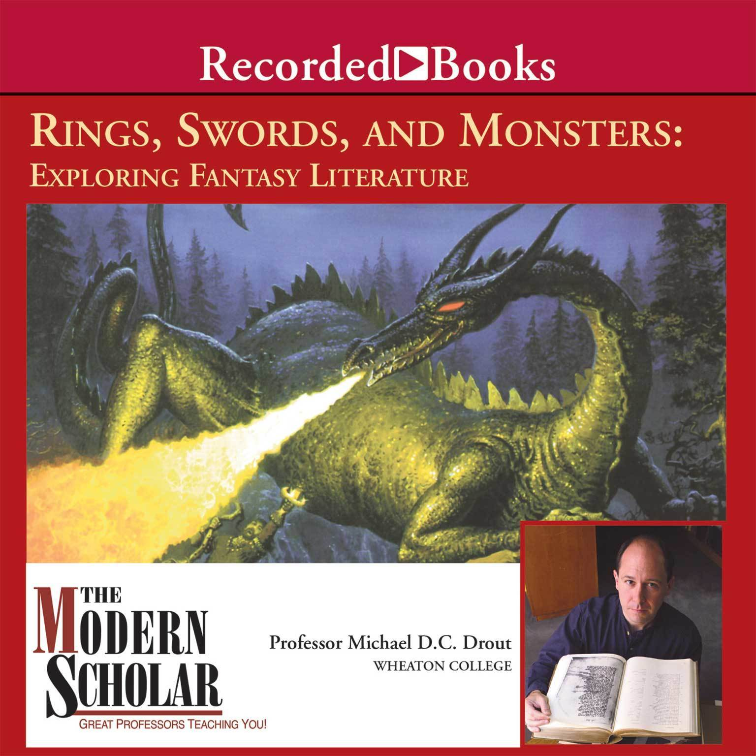 Printable Rings, Swords, and Monsters: Exploring Fantasy Literature Audiobook Cover Art