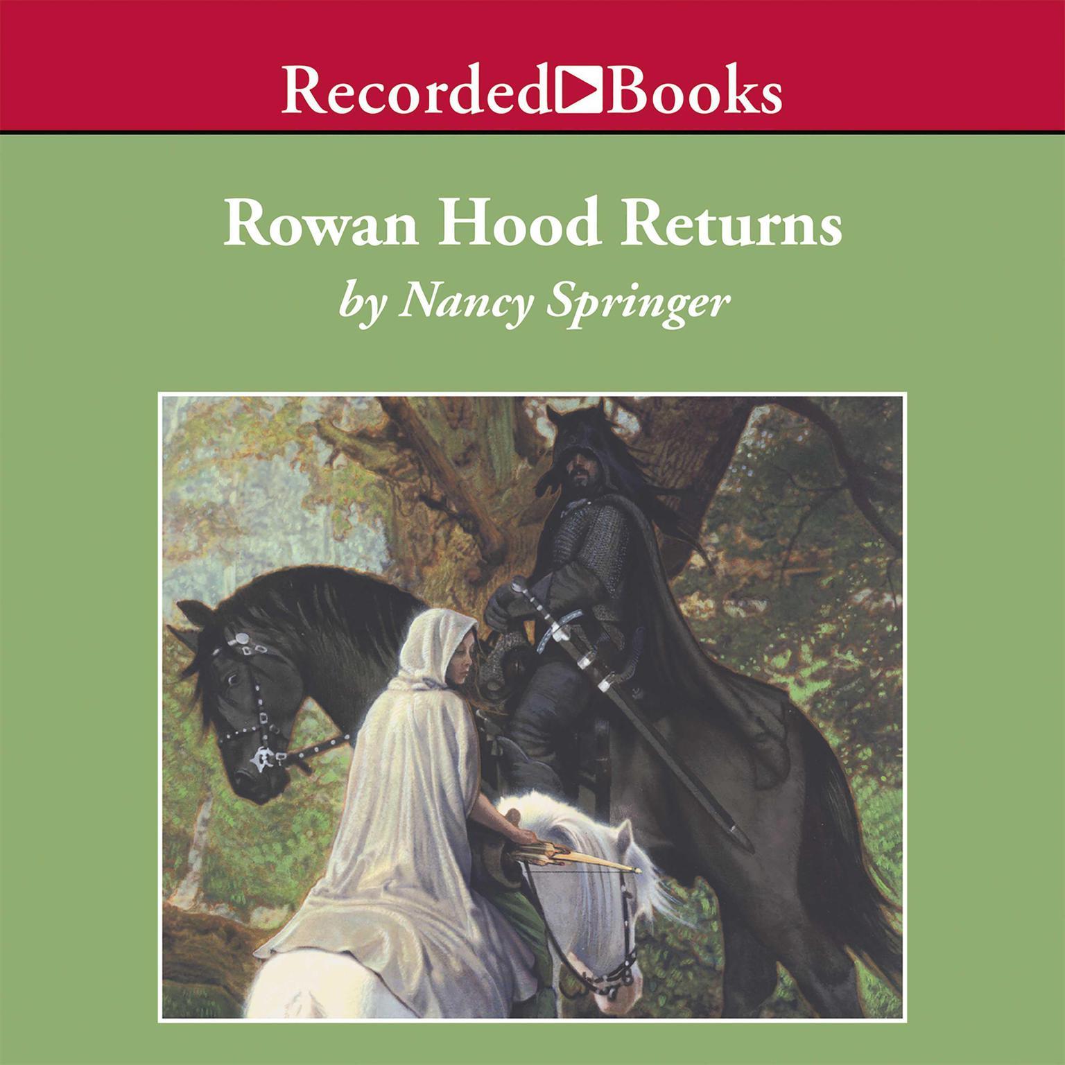 Printable Rowan Hood Returns Audiobook Cover Art