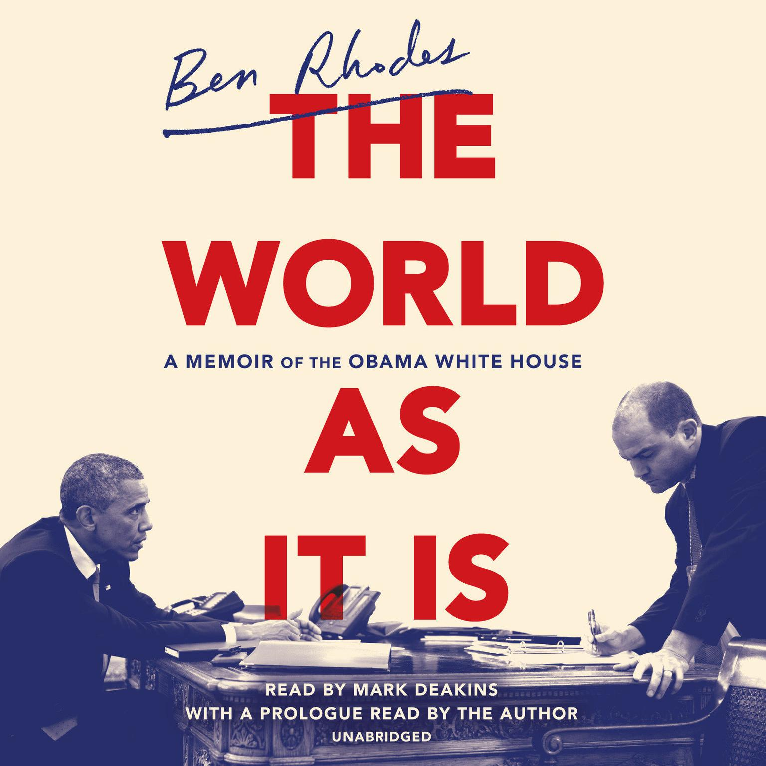 Printable The World as It Is: A Memoir of the Obama White House Audiobook Cover Art