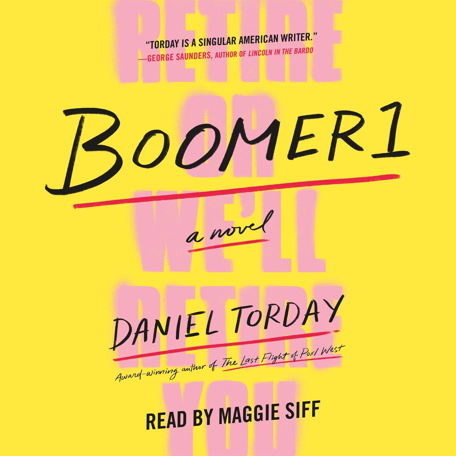 Printable Boomer1: A Novel Audiobook Cover Art