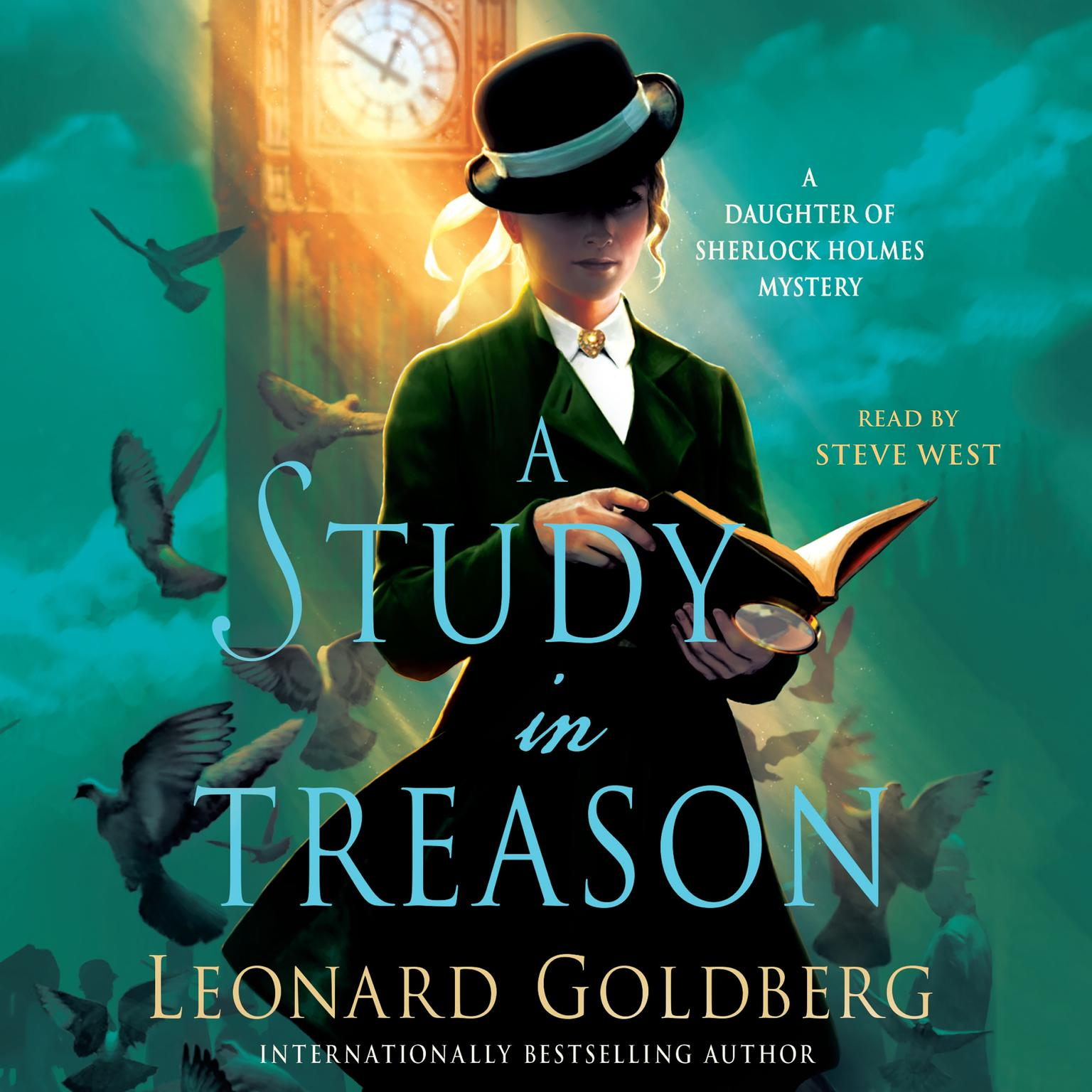 Printable A Study in Treason: A Daughter of Sherlock Holmes Mystery Audiobook Cover Art