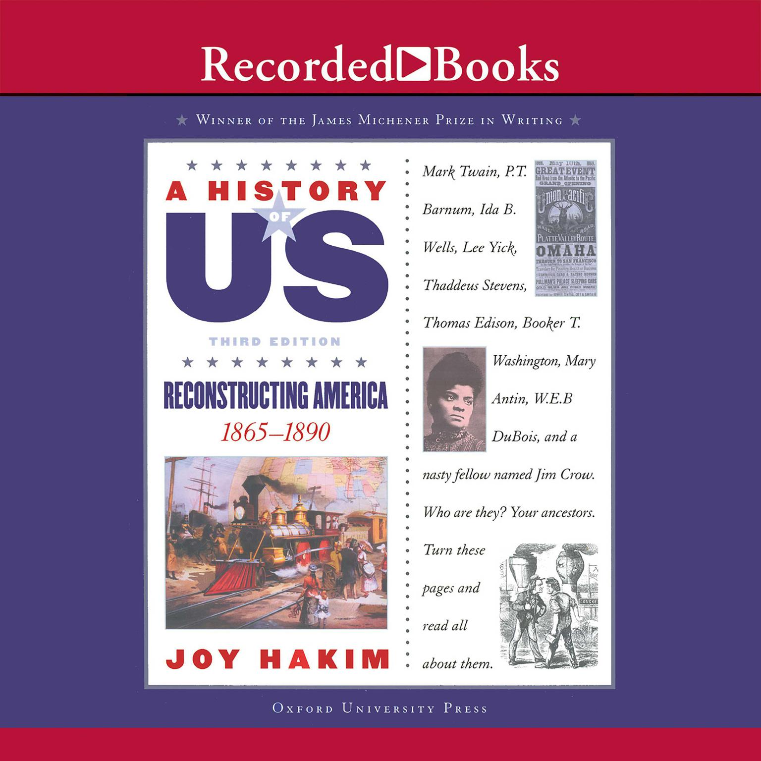Printable Reconstructing America: (1865-1890) Audiobook Cover Art