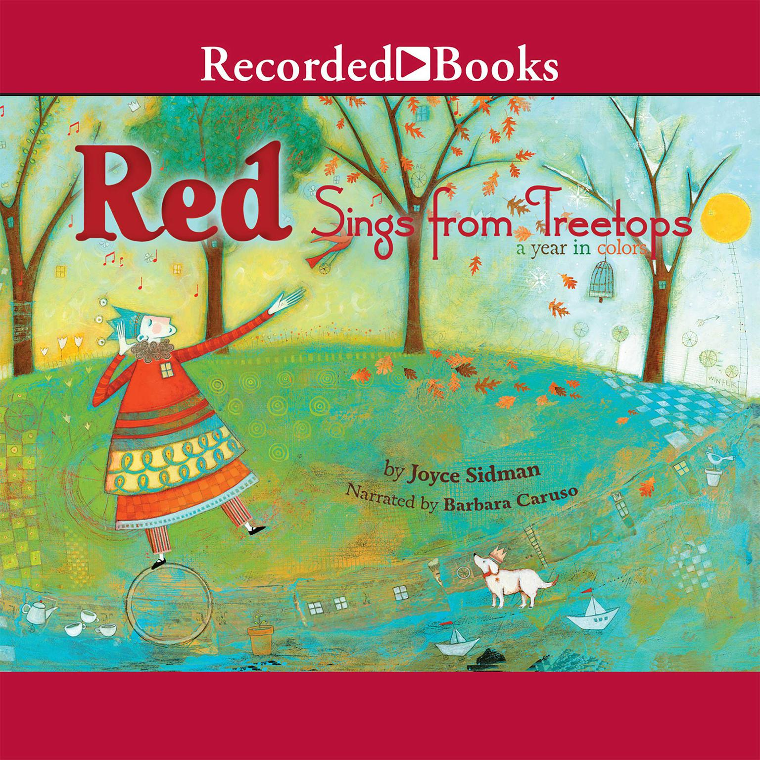 Printable Red Sings from Treetops: A Year in Colors Audiobook Cover Art