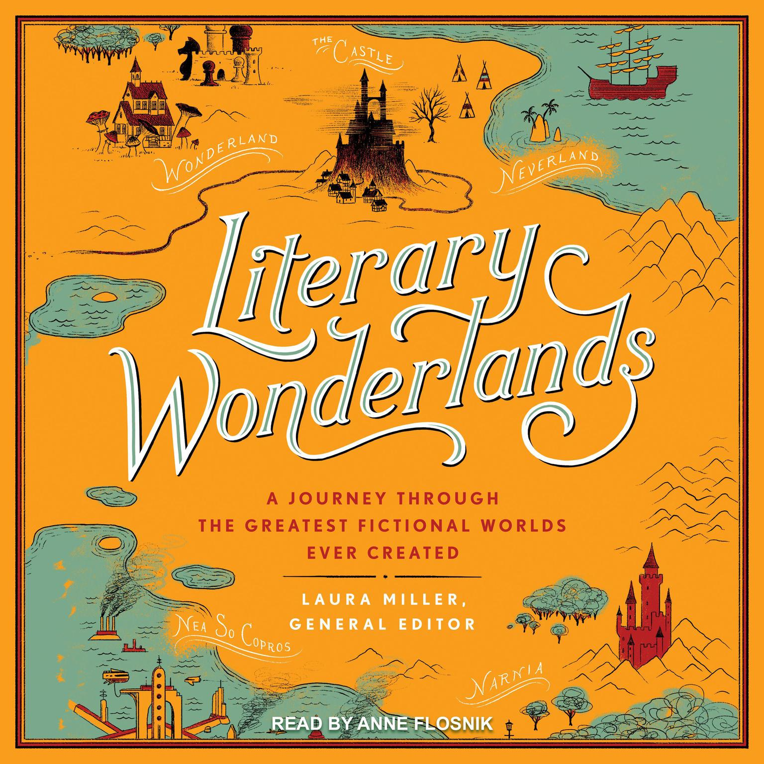 Printable Literary Wonderlands: A Journey Through the Greatest Fictional Worlds Ever Created Audiobook Cover Art