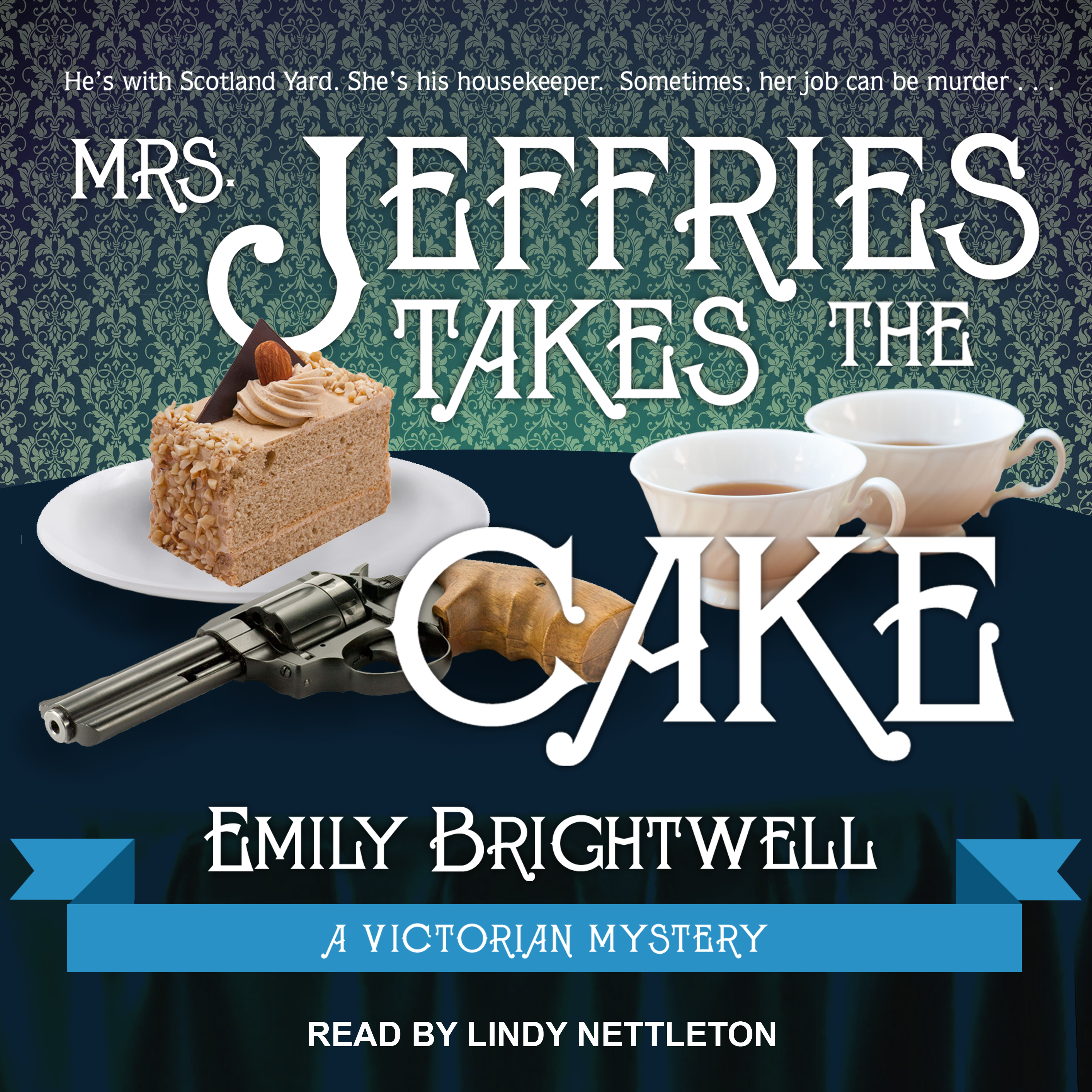 Printable Mrs. Jeffries Takes the Cake Audiobook Cover Art