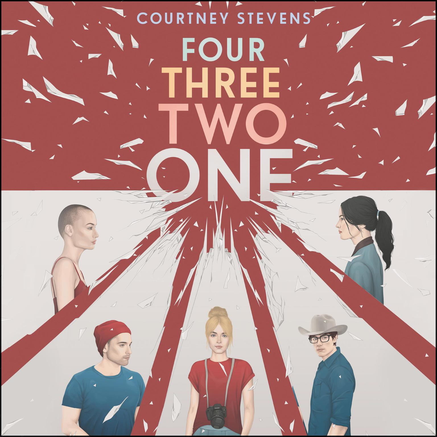 Printable Four Three Two One Audiobook Cover Art