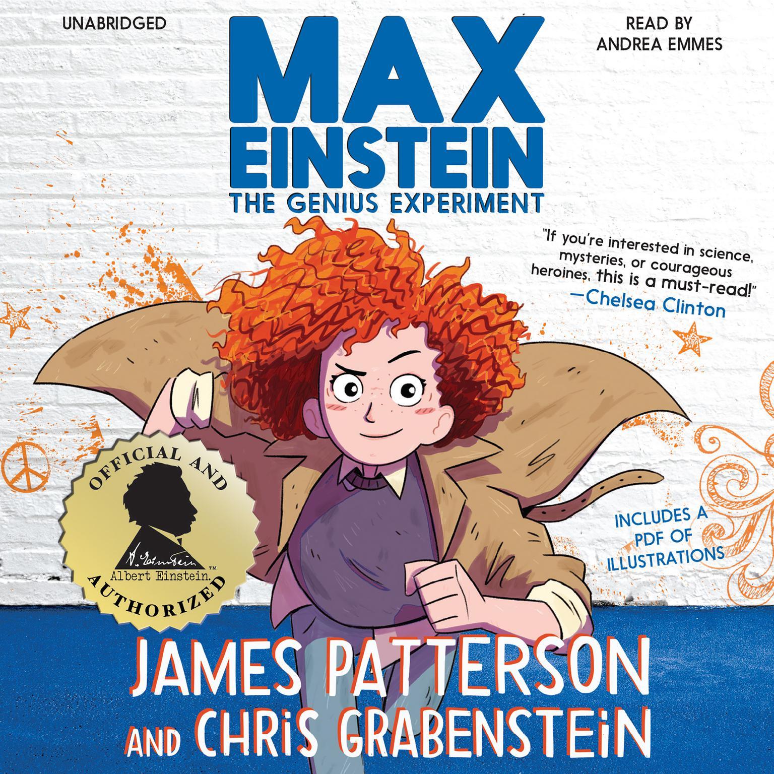 Printable Max Einstein: The Genius Experiment Audiobook Cover Art