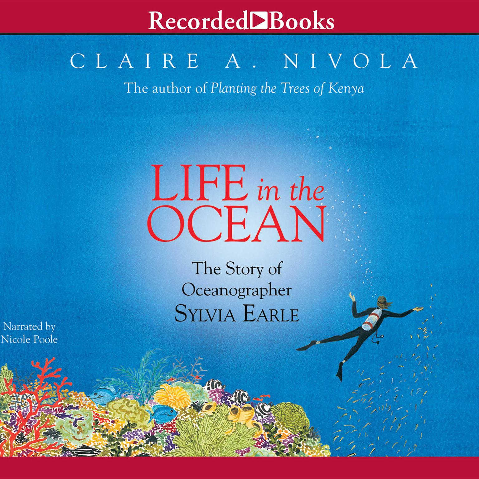 Printable Life in the Ocean: The Story of Oceanographer Sylvia Earle Audiobook Cover Art