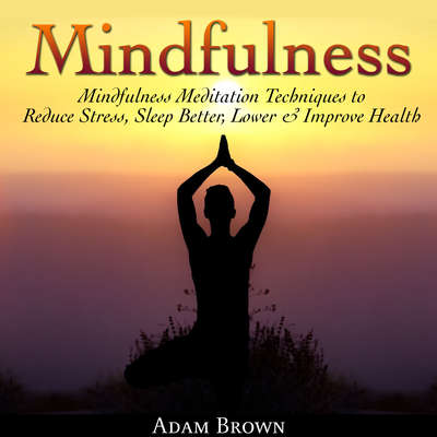 Mindfulness: Mindfulness Meditation Techniques  to Reduce Stress, Sleep Better, Lower & Improve Health Audiobook, by Adam Brown