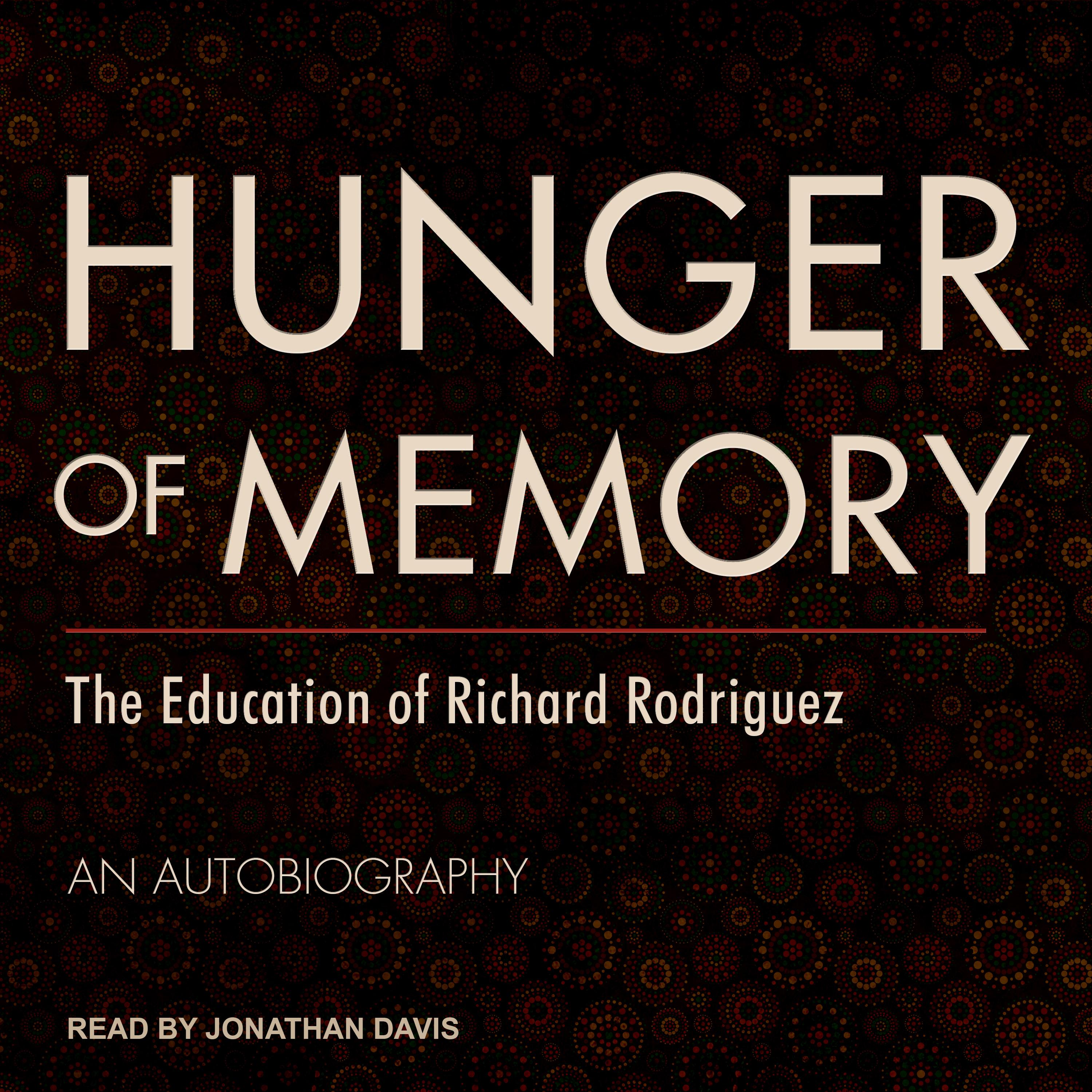 Printable Hunger of Memory: The Education of Richard Rodriguez Audiobook Cover Art