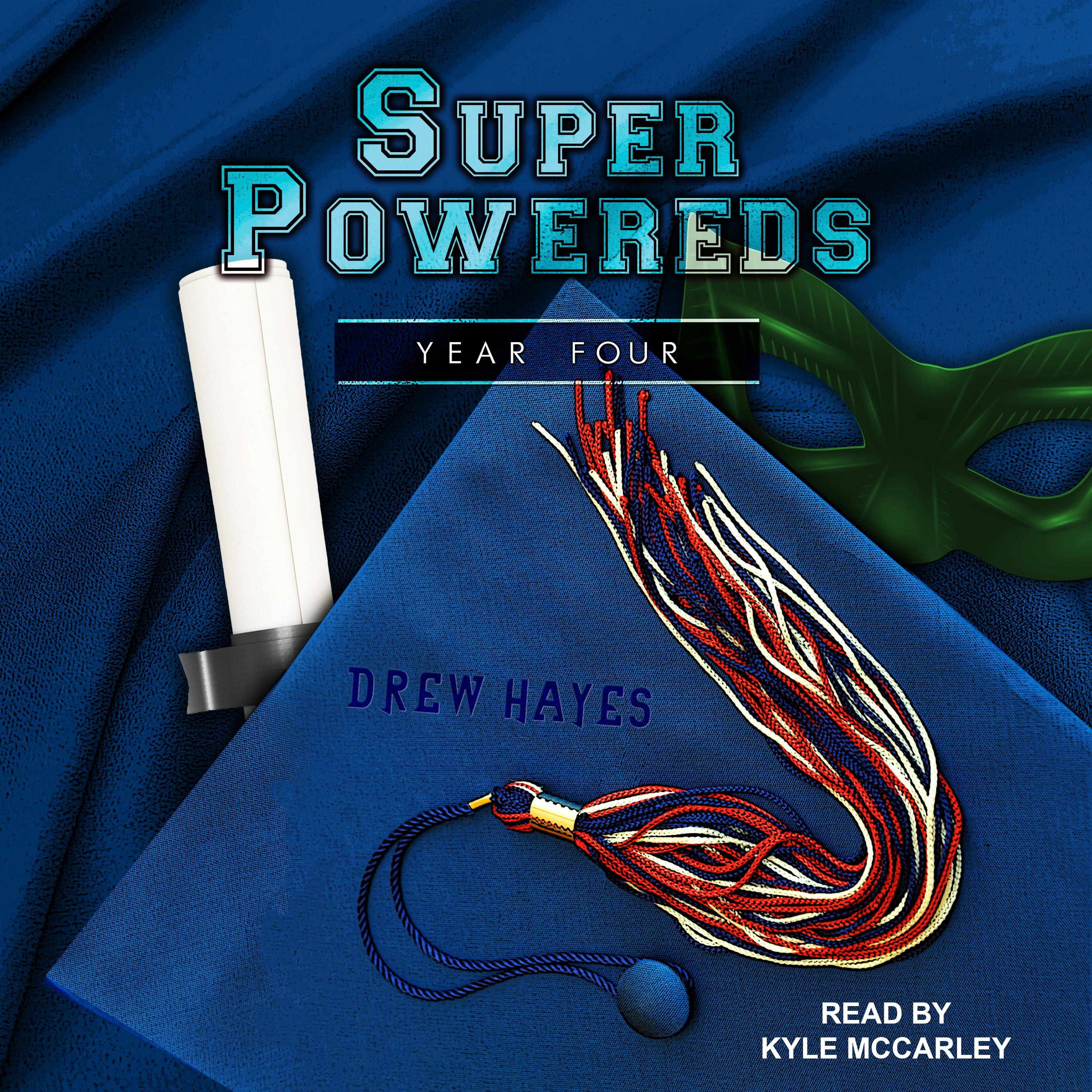 Printable Super Powereds: Year 4 Audiobook Cover Art