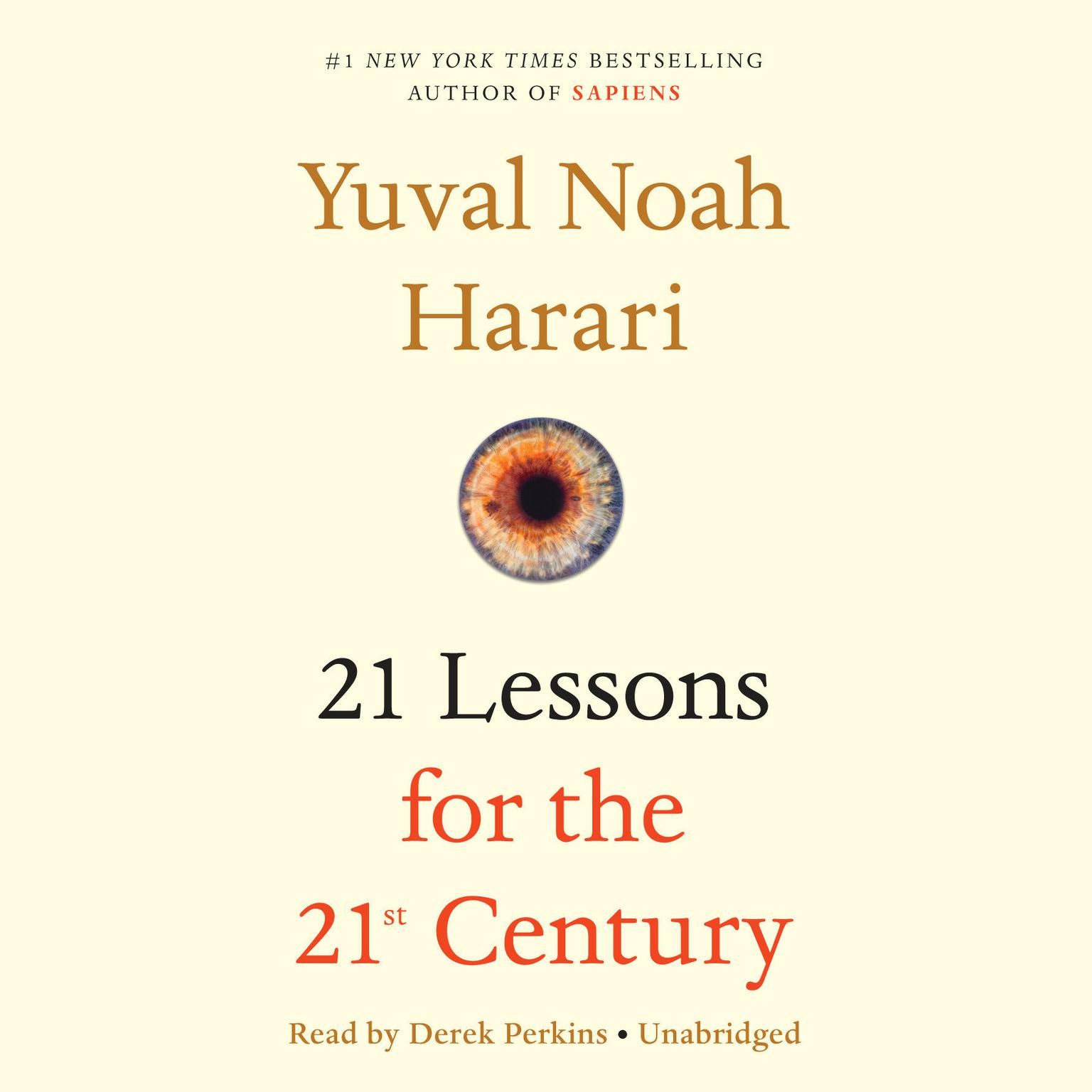 Printable 21 Lessons for the 21st Century Audiobook Cover Art