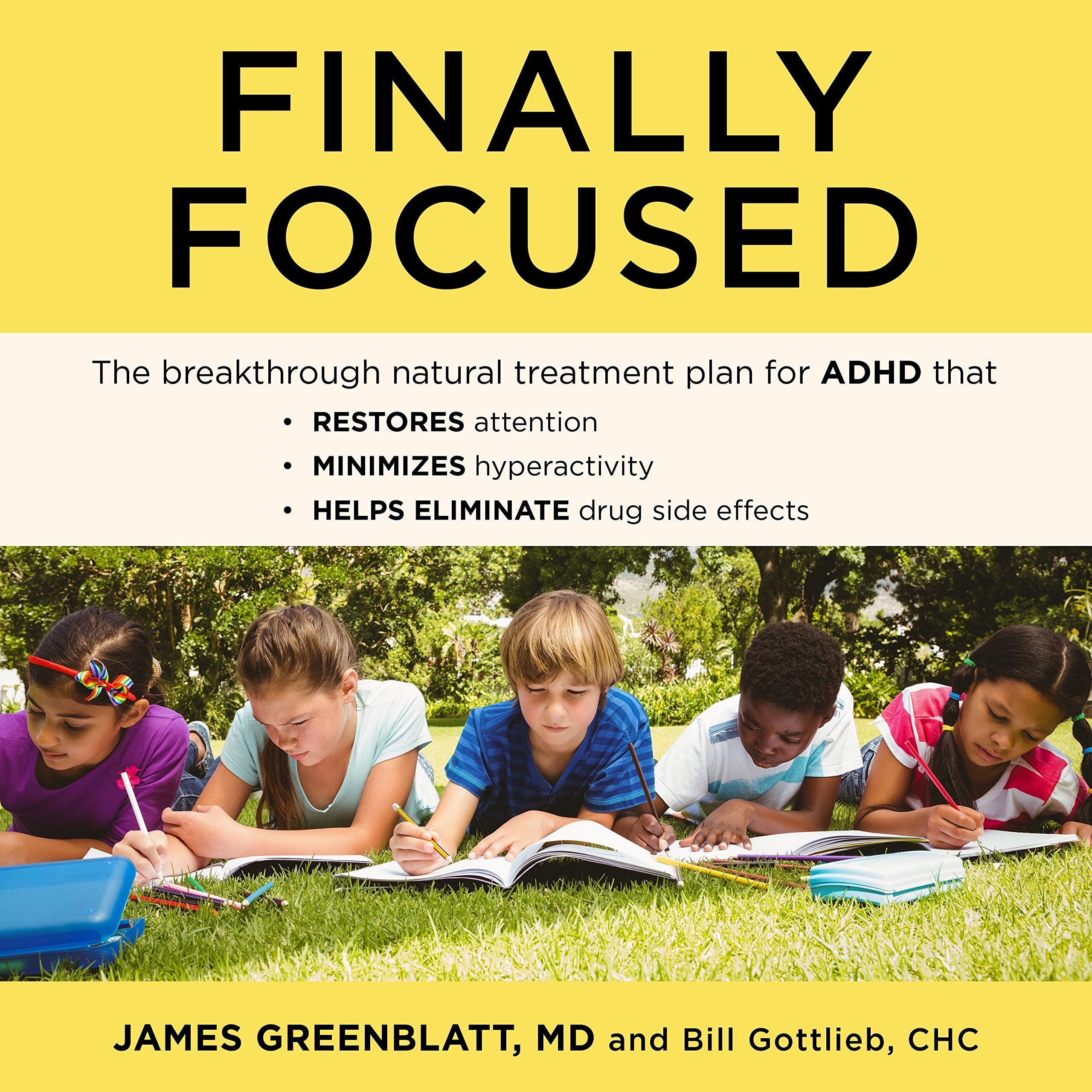 Printable Finally Focused: The Breakthrough Natural Treatment Plan for ADHD That Restores Attention, Minimizes Hyperactivity, and Helps Eliminate Drug Side Effects Audiobook Cover Art